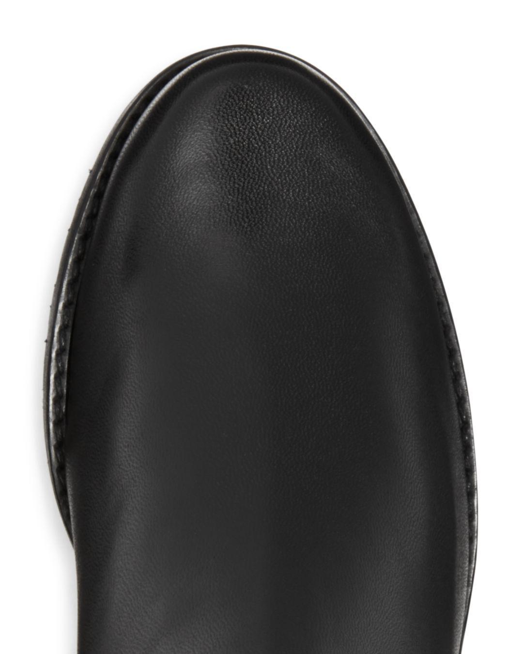 Stuart Weitzman Women's Villepentagon Leather Tall Boots in Black