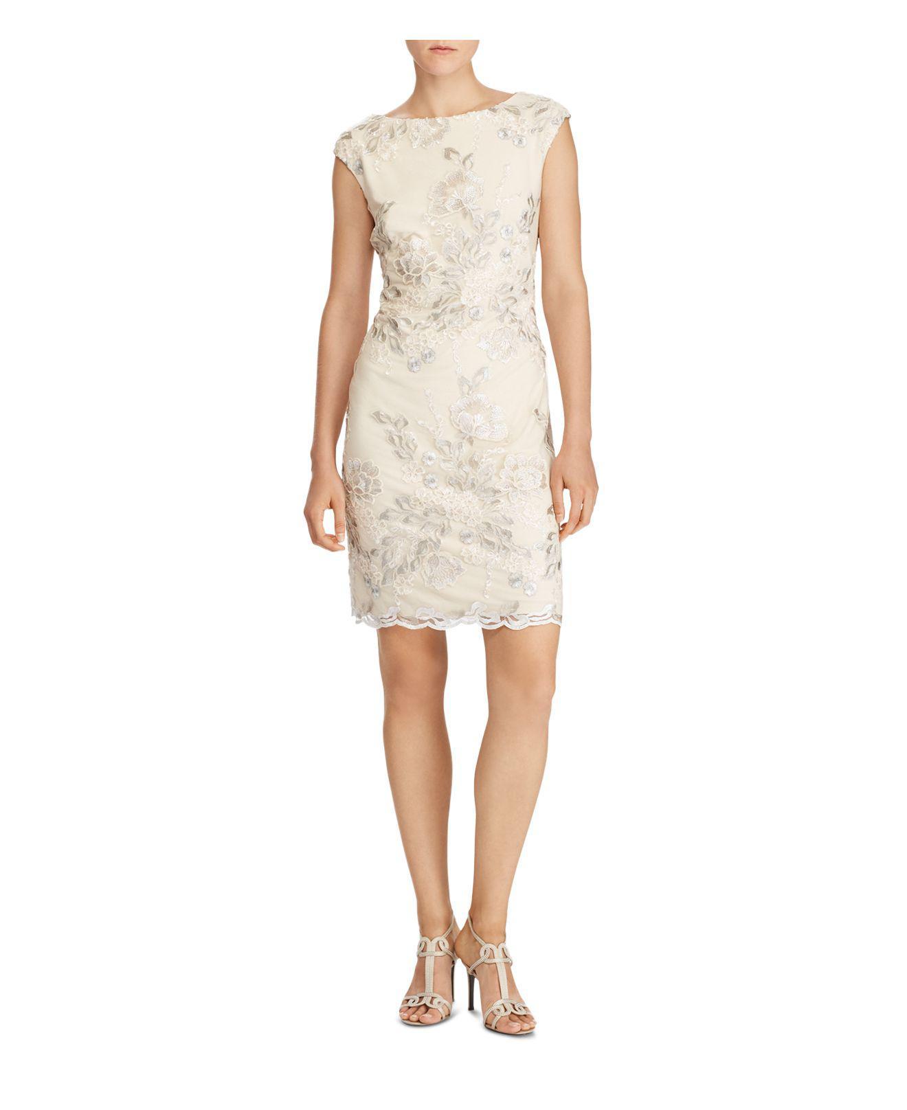 Ralph Lauren. Women\u0027s Metallic Lauren Embellished Sheath Dress