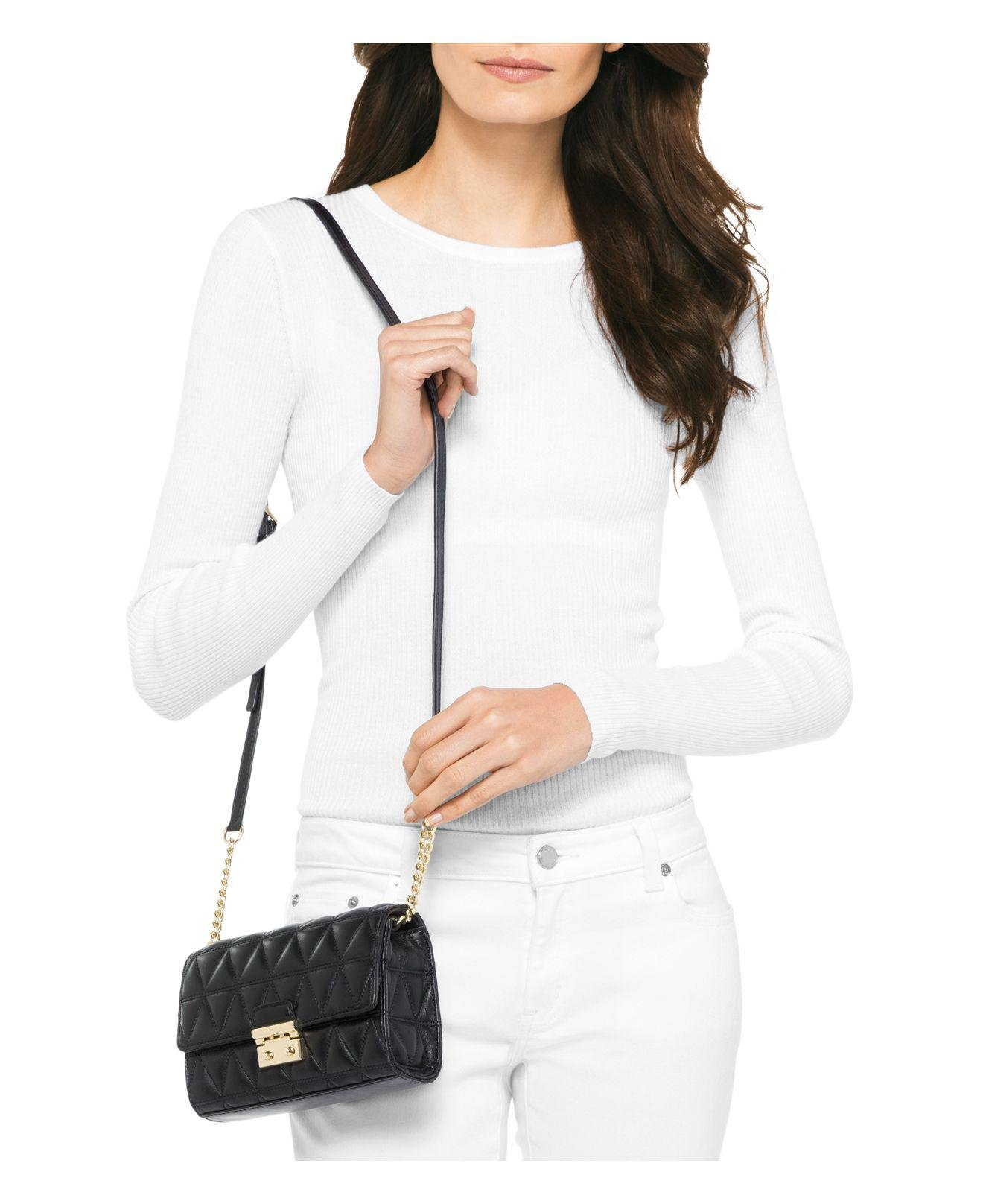 Gallery. Previously sold at  Bloomingdale s · Women s Michael Kors Quilted  ... 879406e674fc1