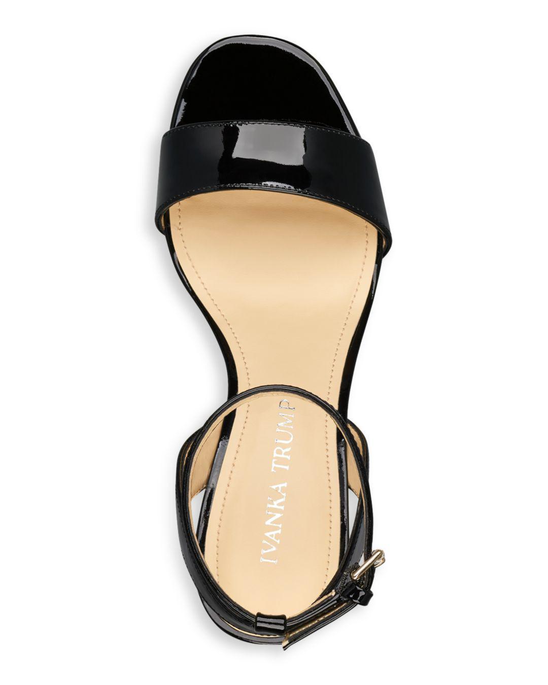d6b6544dc02 Lyst - Ivanka Trump Women s Anina Patent Leather Ankle Strap Sandals ...