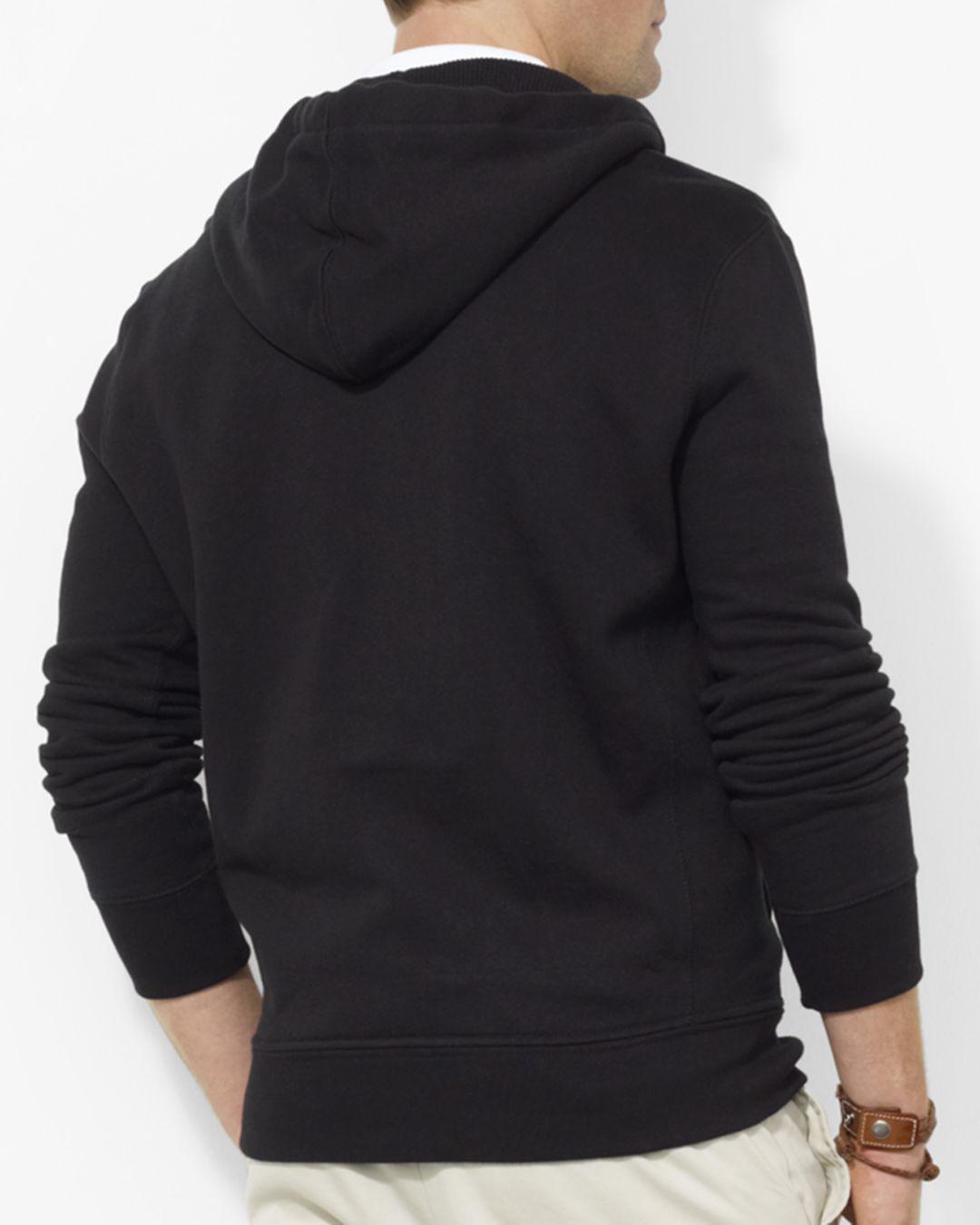 a60d1d506 Lyst - Polo Ralph Lauren Classic Full-Zip Fleece Hoodie in Black for Men -  Save 61%