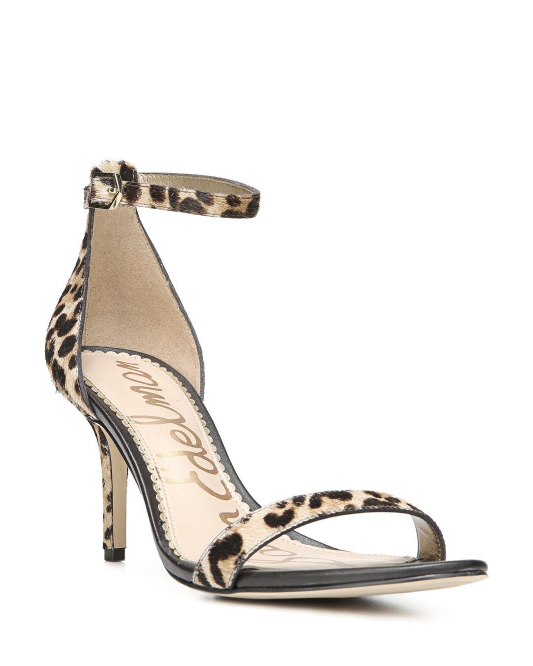 9cd1732e423 Sam Edelman Women's Patti Open Toe Leopard - Print Calf Hair High ...