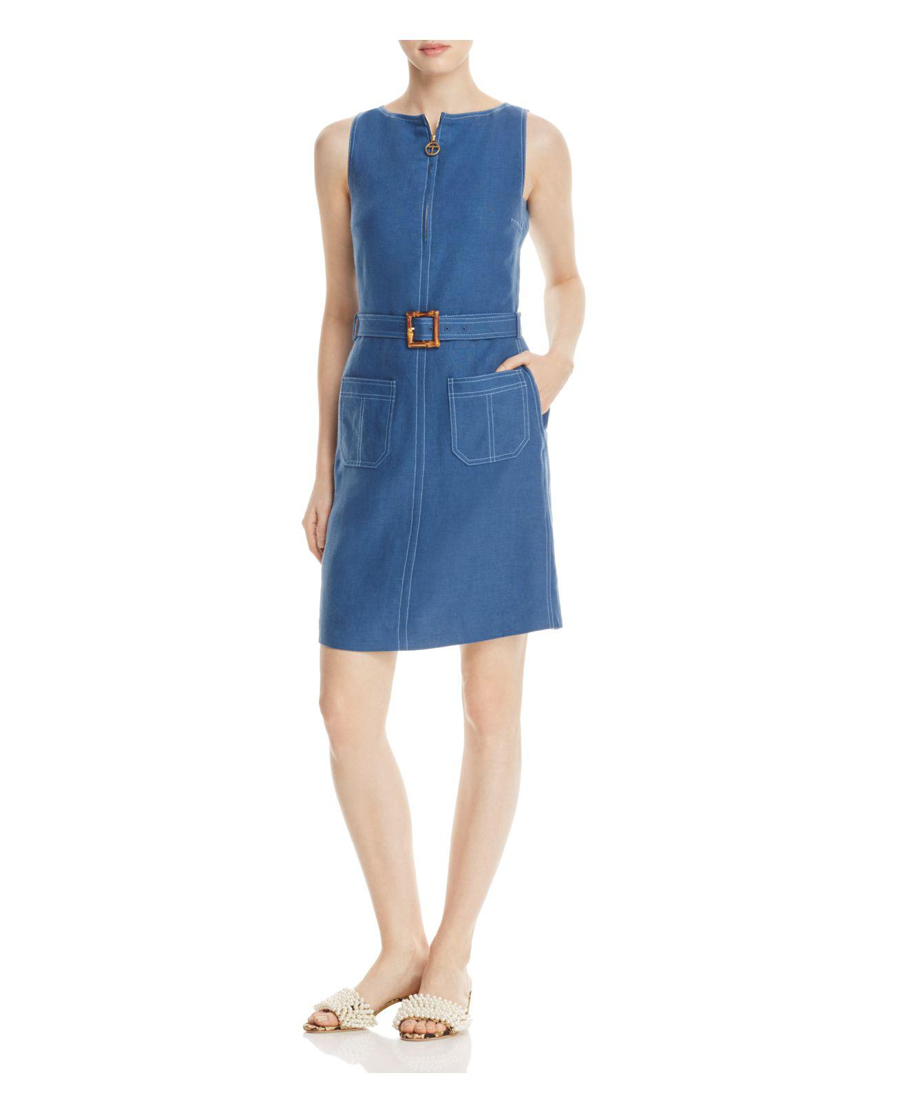 e1b294d3386 Tory Burch Nadia Dress in Blue - Lyst