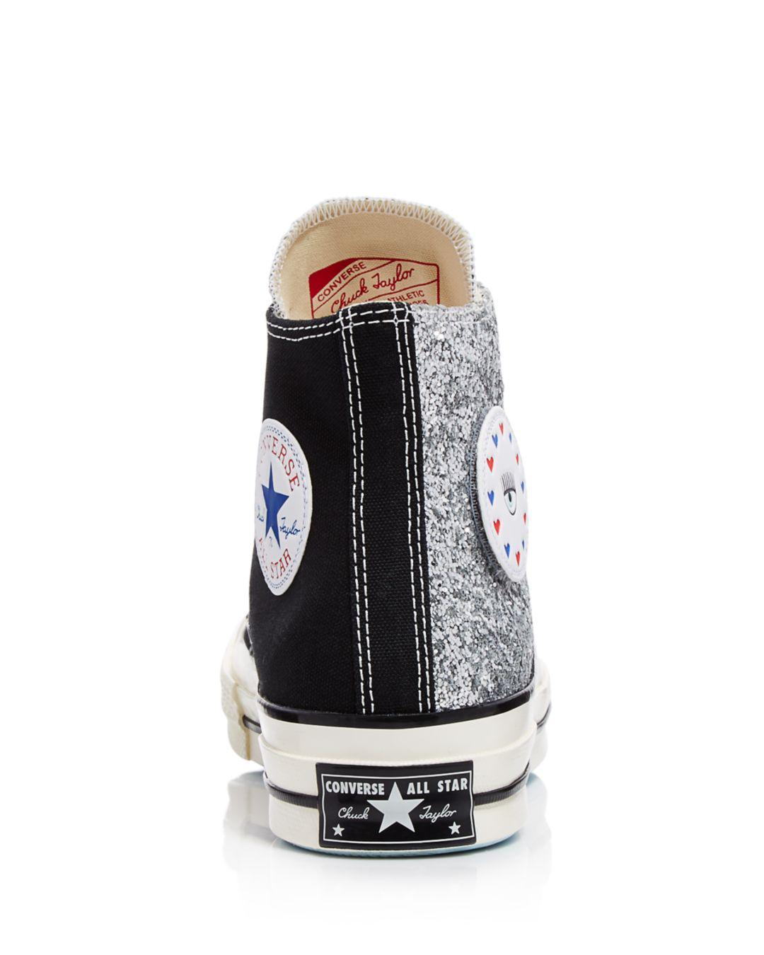 Converse X Chiara Ferragni Women's Chuck Taylor Glitter High Top ...