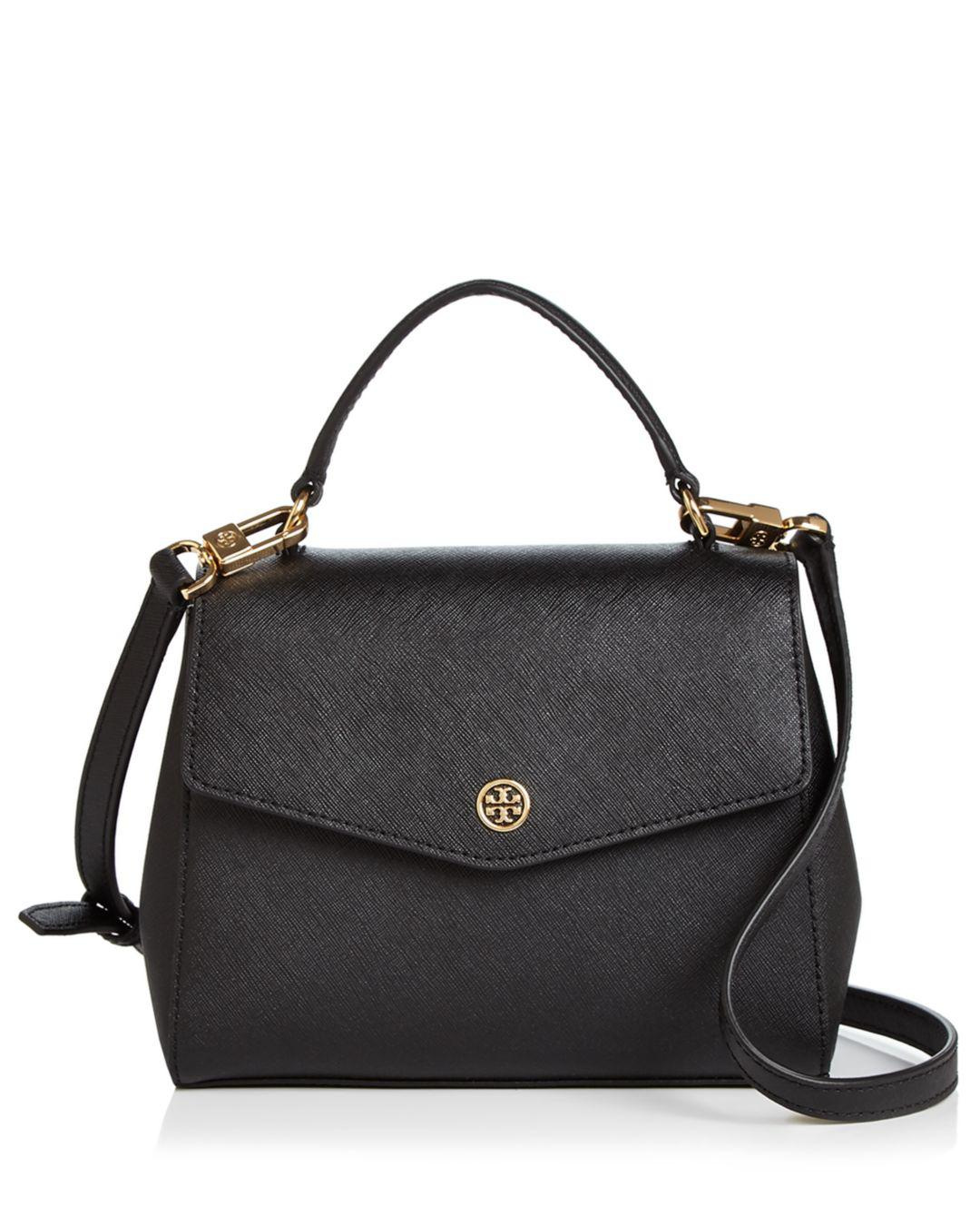 6715d888c0d Lyst - Tory Burch Robinson Small Leather Crossbody in Black