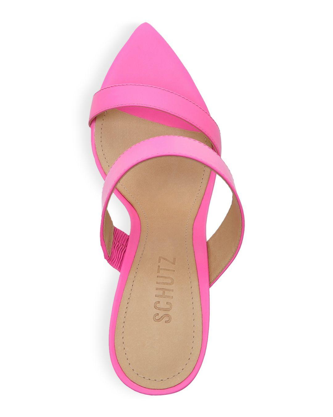 de4eedde0723 Schutz - Pink Women s Soraya High-heel Wedge Sandals - Lyst. View fullscreen