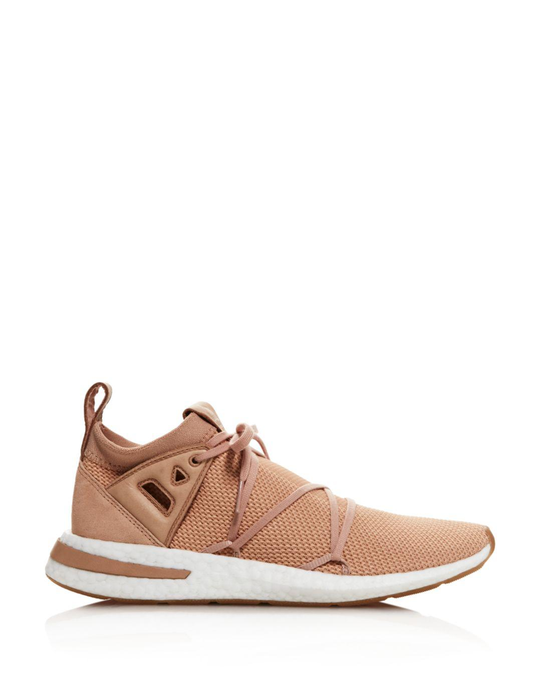 uk availability d292e 158ce Lyst - adidas Womens Arkyn Knit Lace Up Sneakers