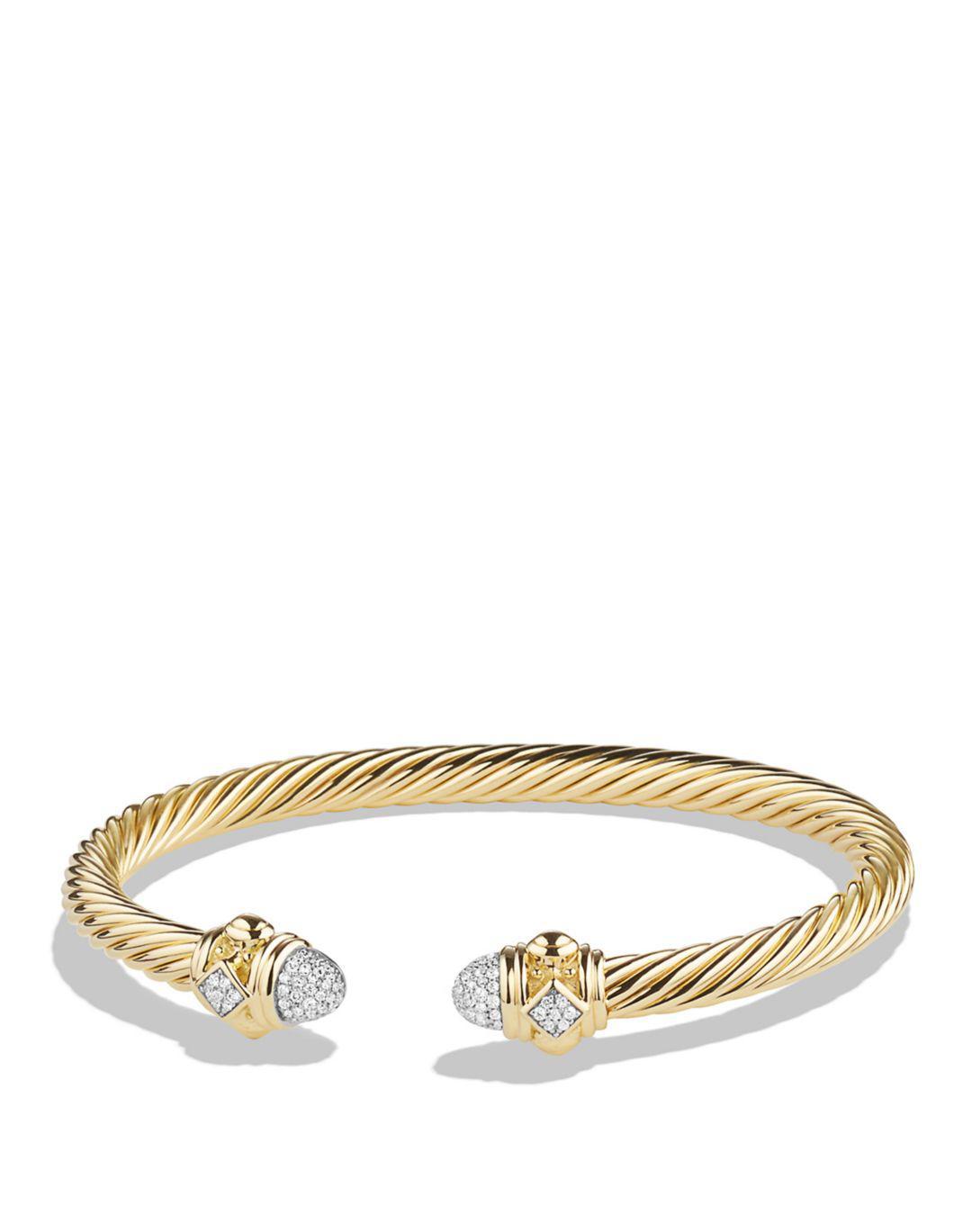 0ab2bb2b6603 David Yurman. Women s Metallic Renaissance Bracelet With Diamonds In 18k  Gold