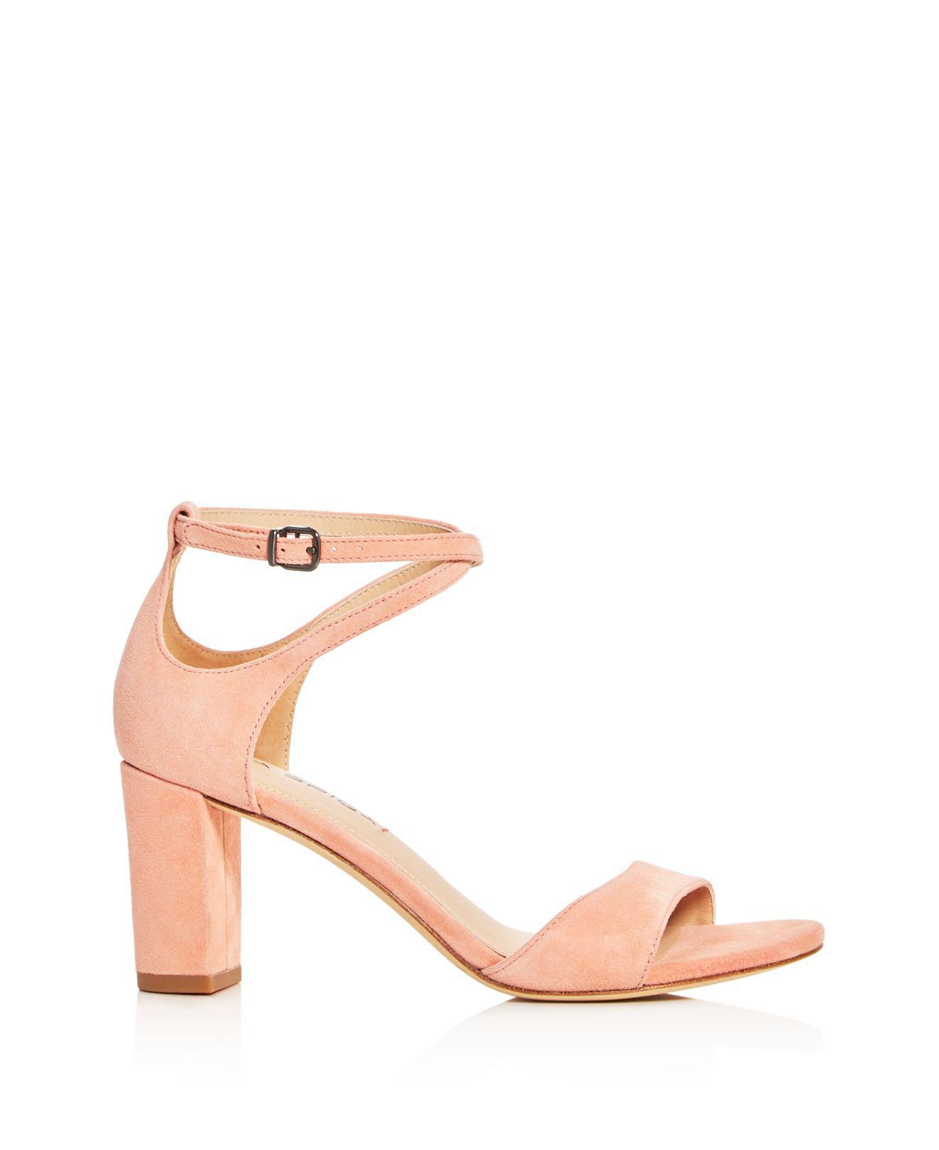 8b83250a318 Lyst - Via Spiga Wendi Crisscross Ankle Strap High Heel Sandals in Black