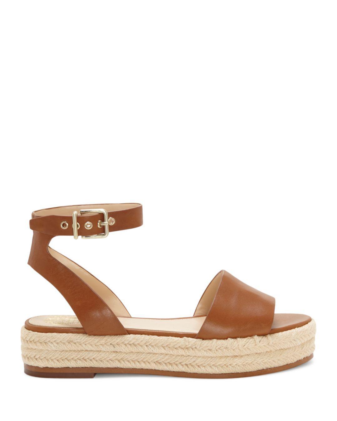1a555f52325c Vince Camuto Women s Kathalia Leather Platform Espadrille Sandals in ...