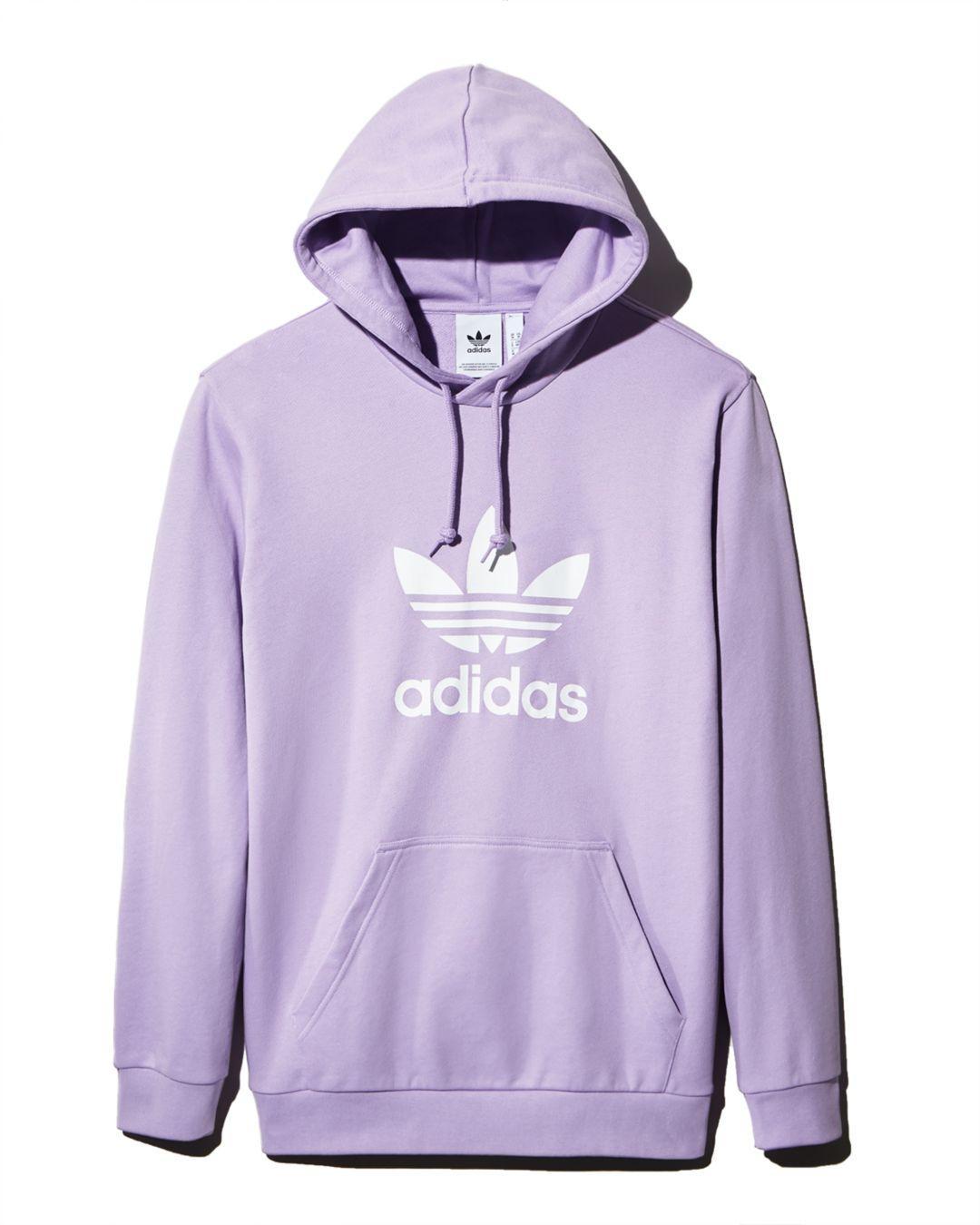 Alinear Inclinado Rectángulo  adidas Originals Trefoil Hoodie in Lavender (Purple) for Men - Lyst