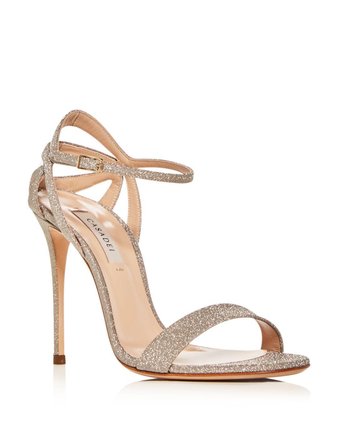 Casadei Women s Glitter Ankle-strap High-heel Sandals - Lyst 46e63dd9f3f