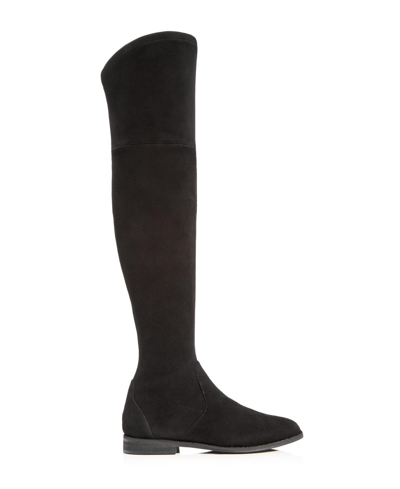Gentle Souls Leather Emma Over The Knee Boots in Black
