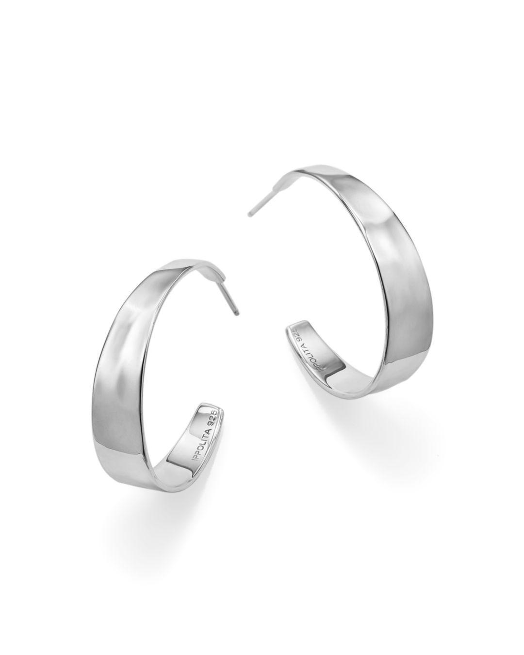 Ippolita Sterling Silver Sensotm Tapered Hoop Earrings In