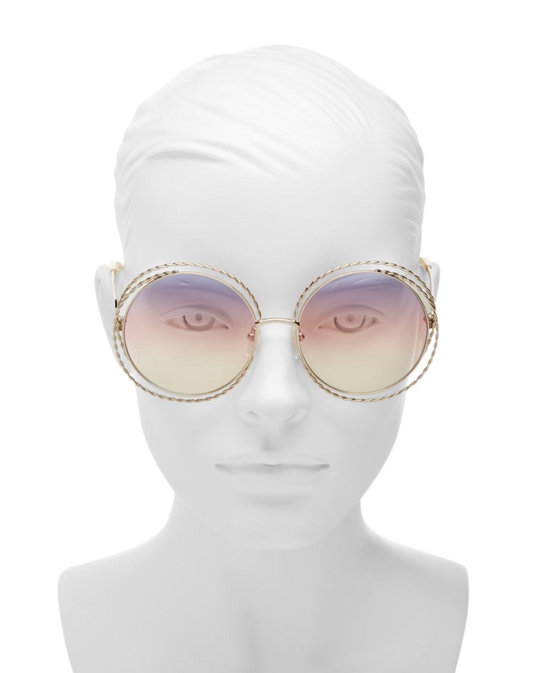 6f5c70323d Metallic Women's Carlina Torsade Oversized Round Sunglasses