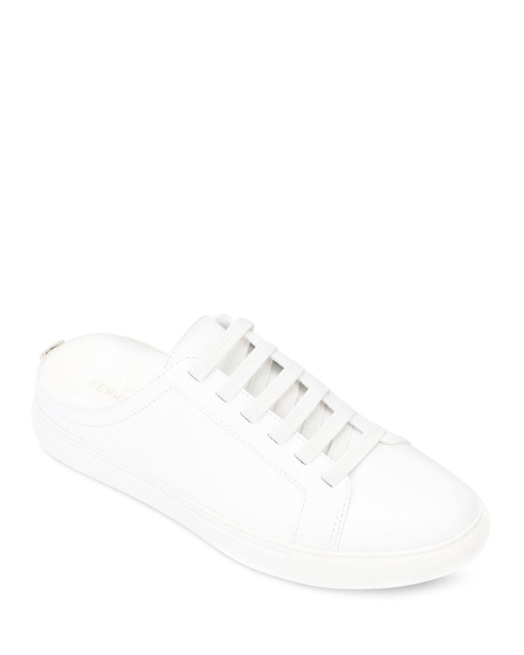 Kam Slip - On Mule Sneakers in White