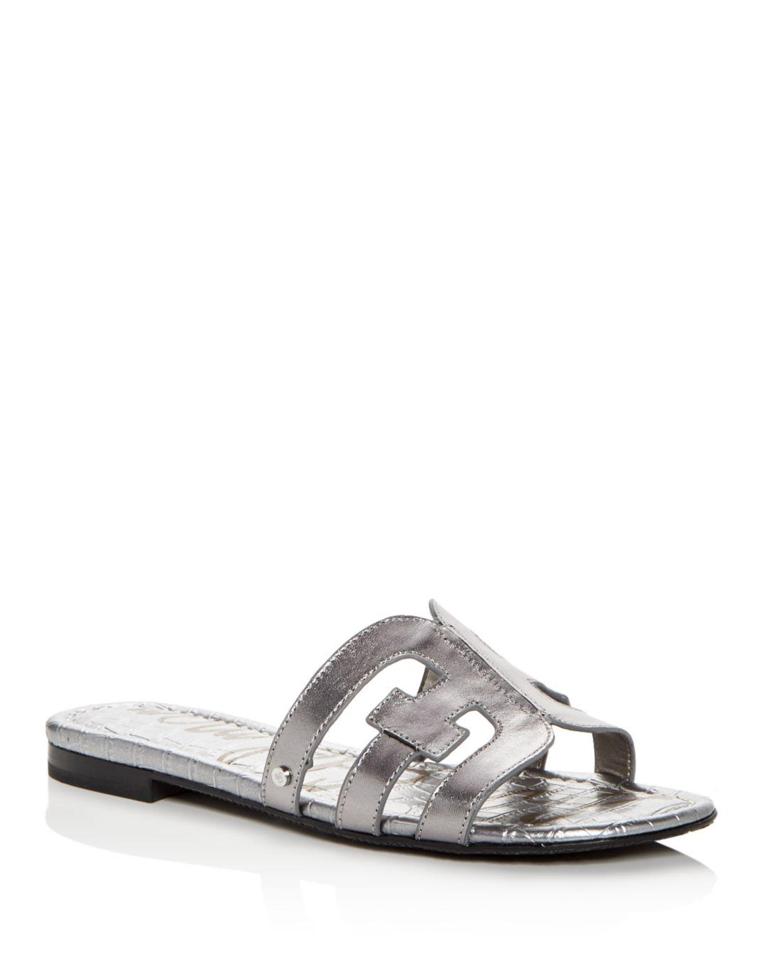 b0c774f2a Lyst - Sam Edelman Women s Bay Leather Slide Sandals