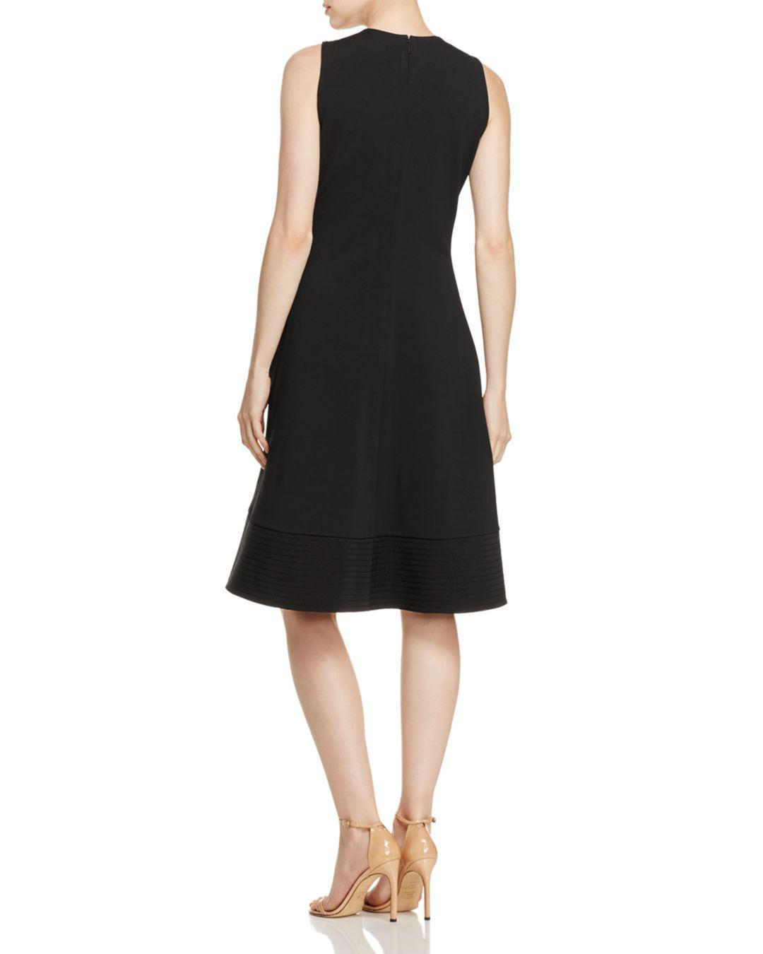 58204049e83d4 Lyst - Donna Karan Sleeveless Zip-front Dress in Black