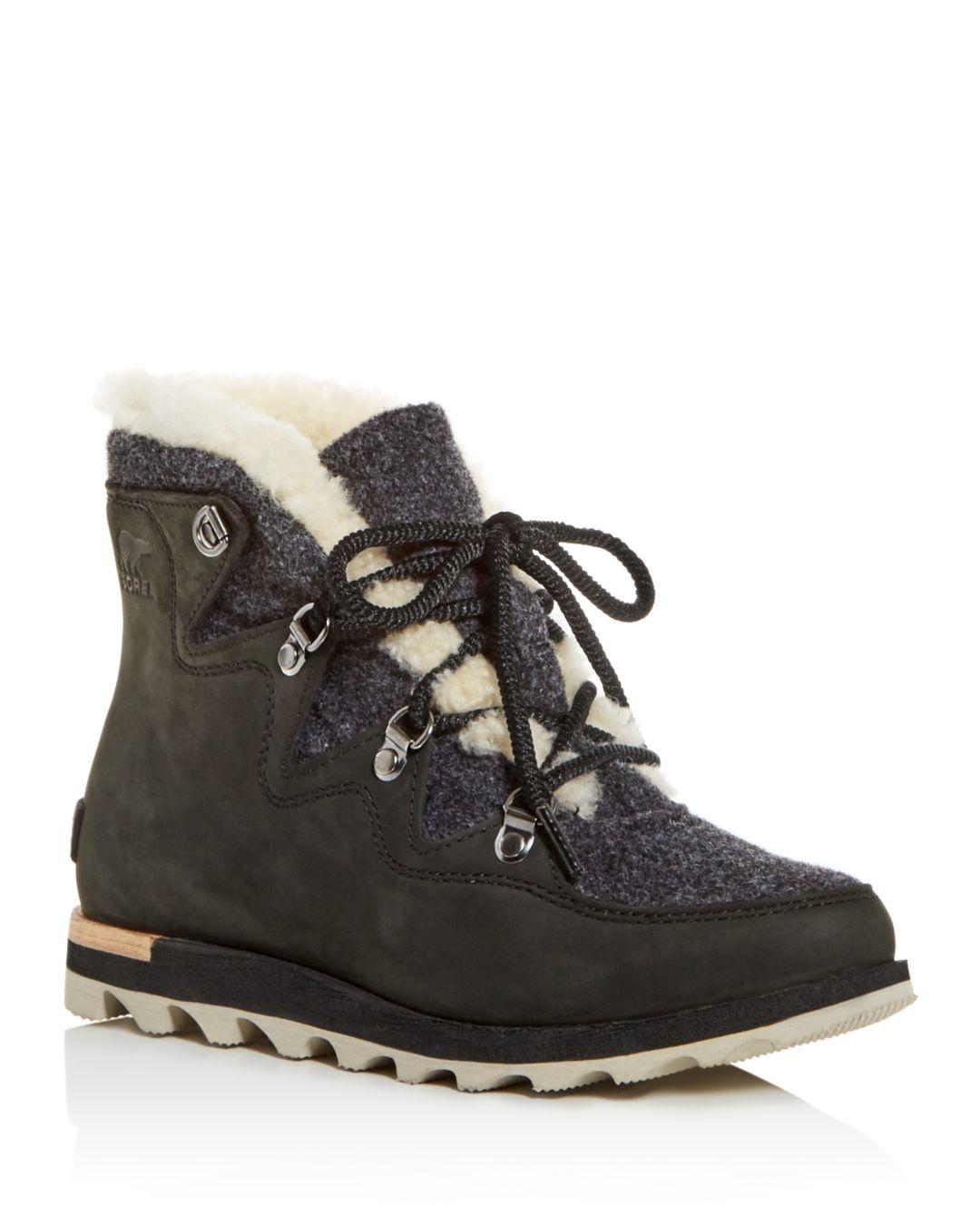 ad7e7105f68 Black Women's Sneakchic Alpine Holiday Shearling Waterproof Cold - Weather  Boots