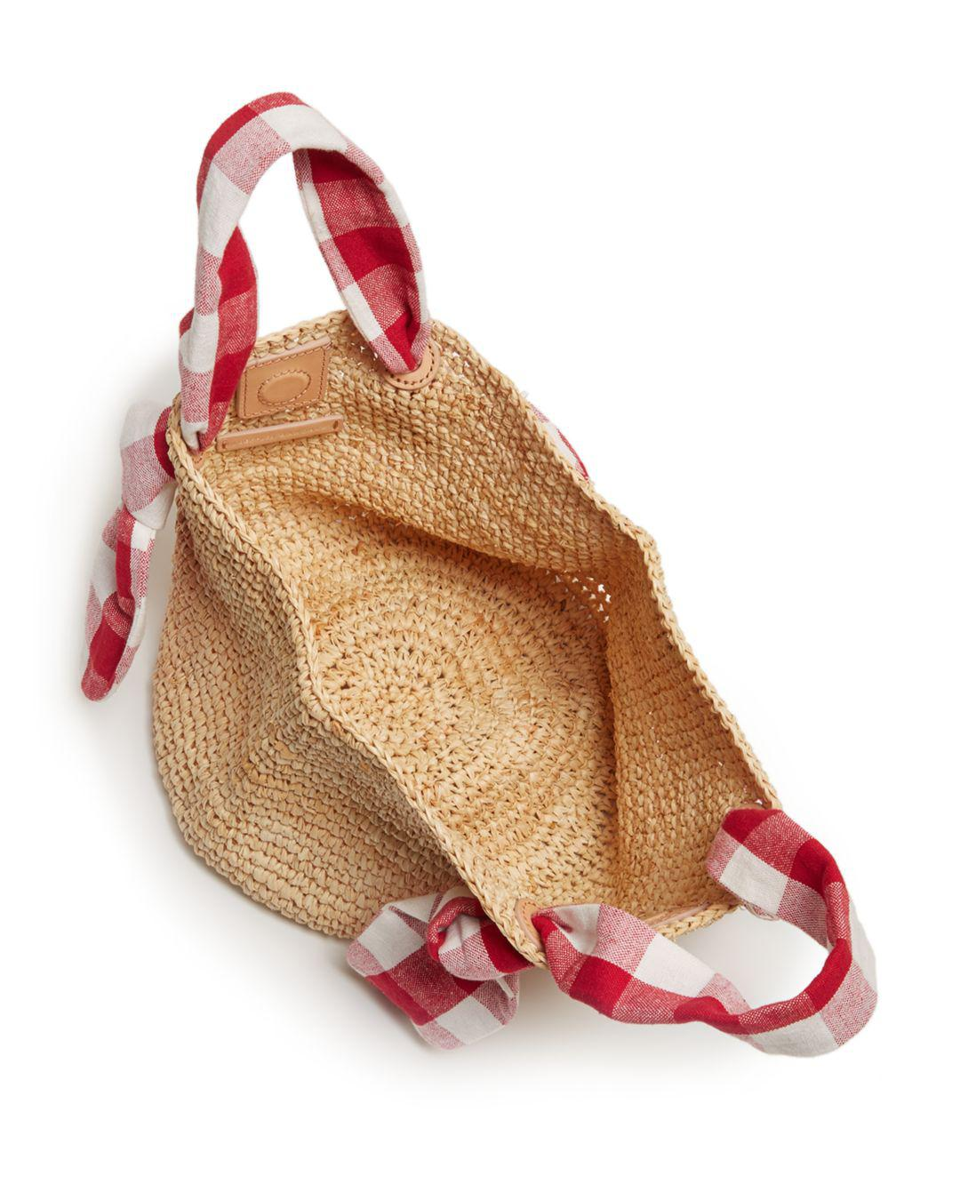 82e90e2e0a4 Loeffler Randall Hazel Checkered Tie Straw Tote - Save 60% - Lyst