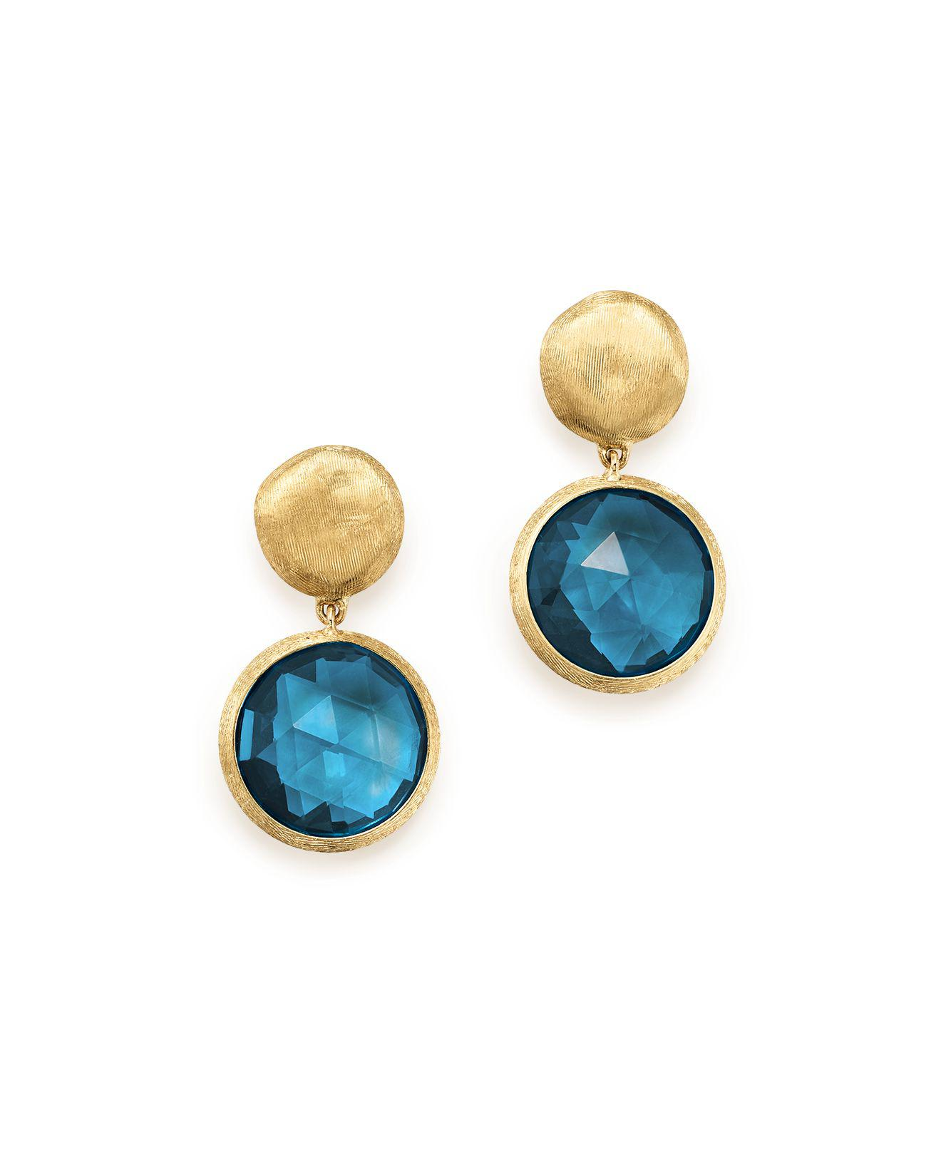 Marco Bicego Jaipur Drop Earrings with Blue Topaz & Diamonds InqerR