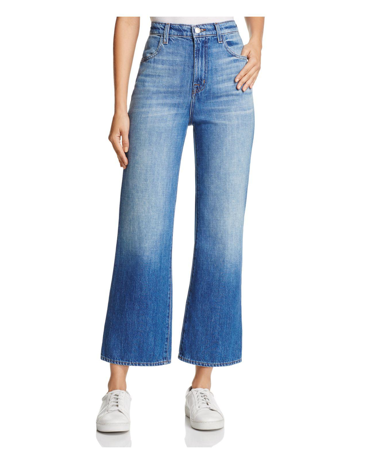 Joan High Rise Wide Leg Crop Jeans - Double take blue J Brand NEnwcUu