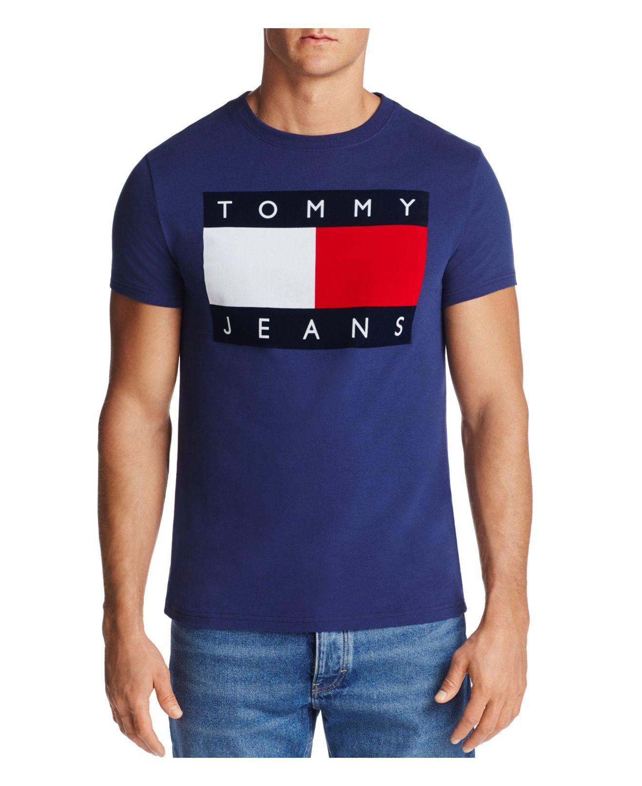 45db0265383b Tommy Hilfiger Graphic Logo Tee in Blue for Men - Lyst