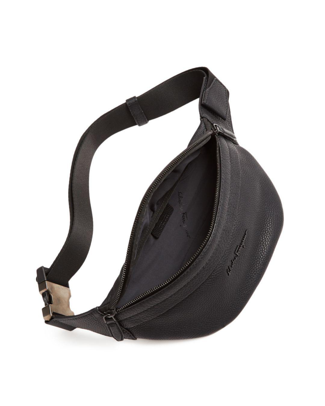 Lyst - Ferragamo Firenze Leather Belt Bag in Black for Men 2ebc231207c40