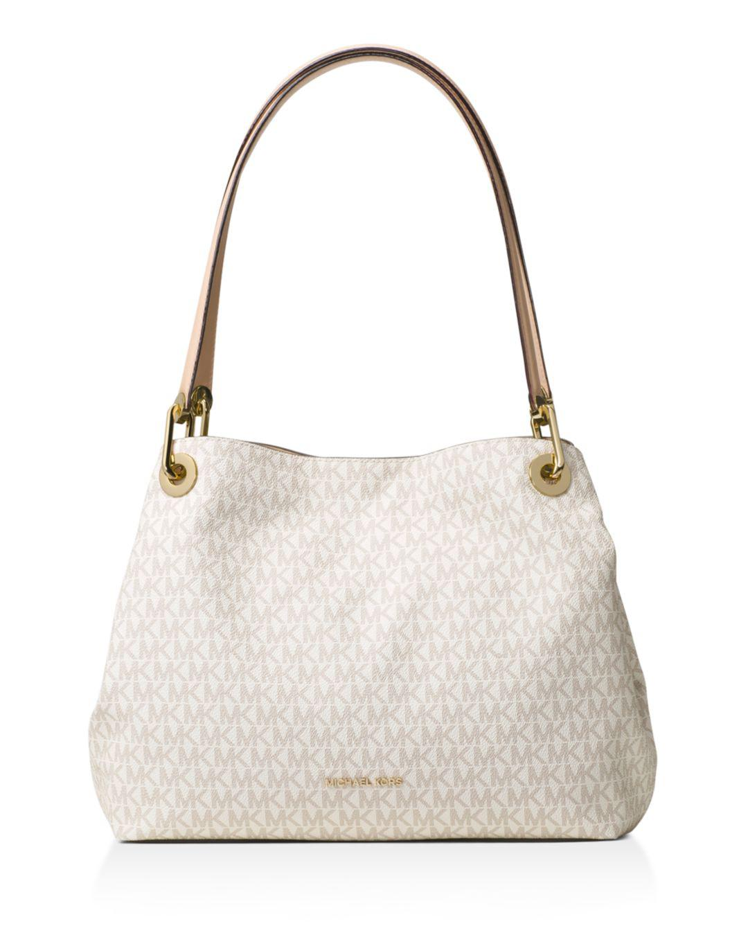 Michael Kors Synthetic Raven Large Shoulder Tote Vanilla in Natural - Save 67%