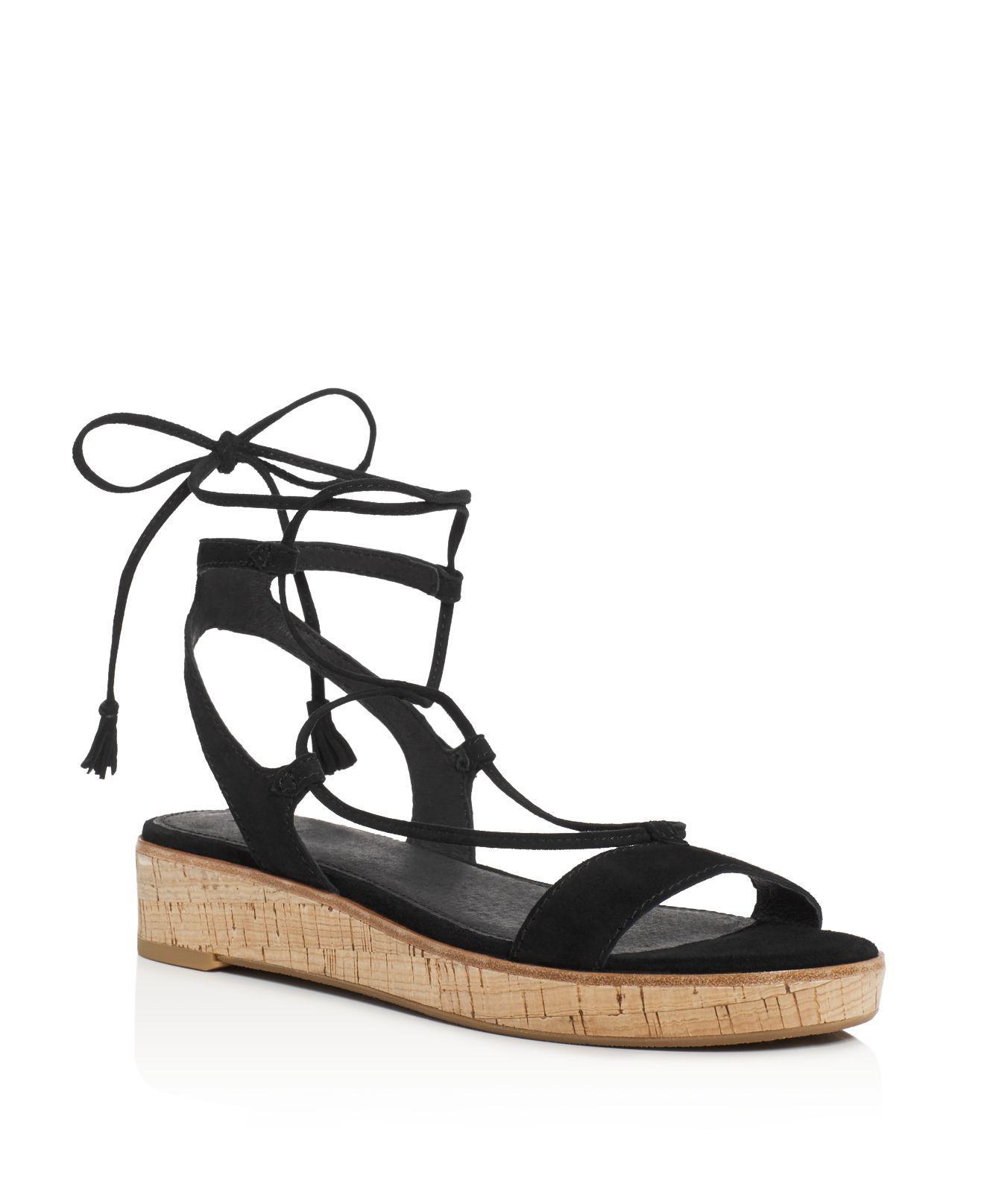 Frye Miranda Leather Gladiator Wedge Sandals xP3rLP5