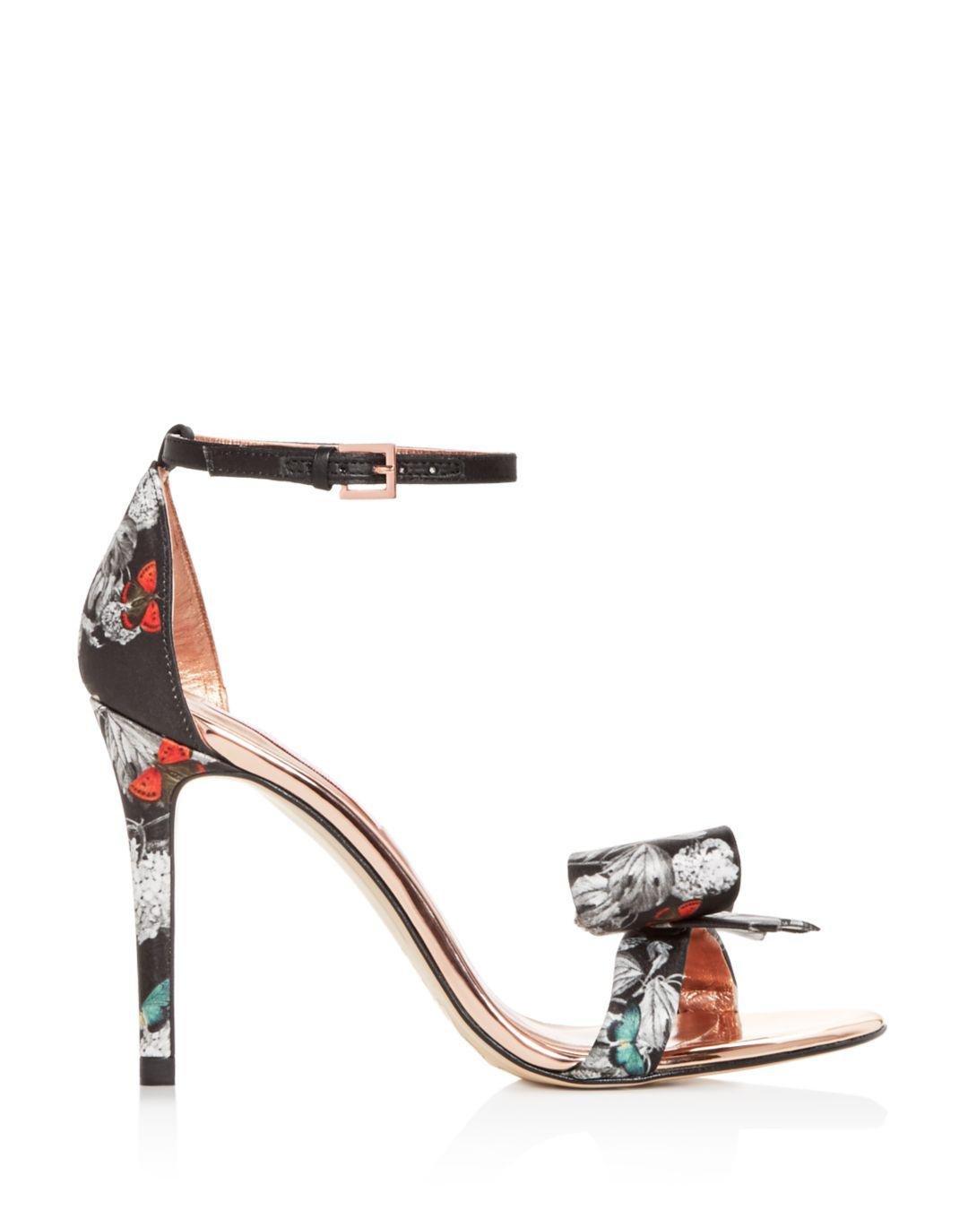 e82dc92976b Lyst - Ted Baker Women s Bowdalp Black Narnia High-heel Sandals in Black