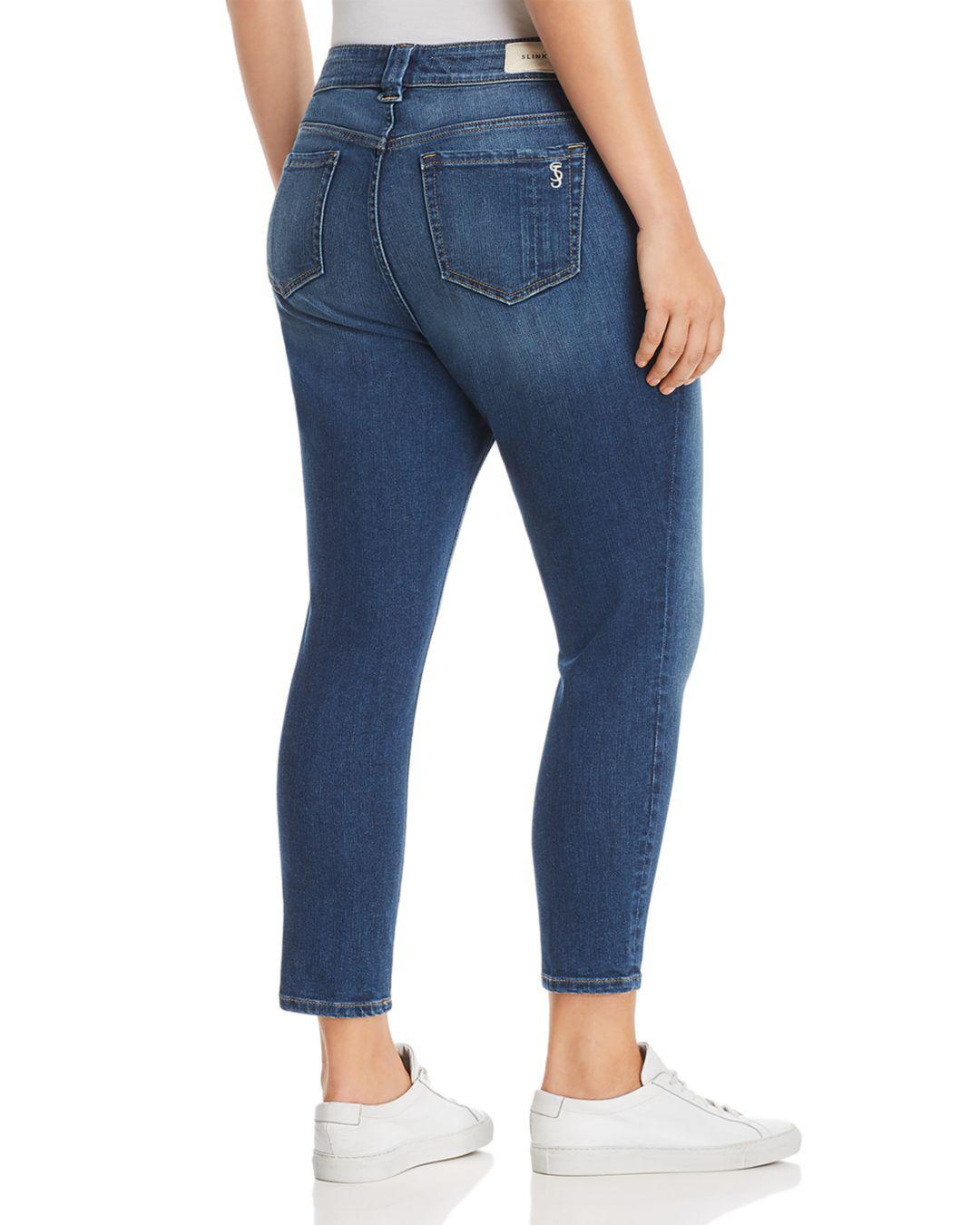 25ab7b10af3 Lyst - Slink Jeans Plus Seamed Cropped Jeans In Francis in Blue