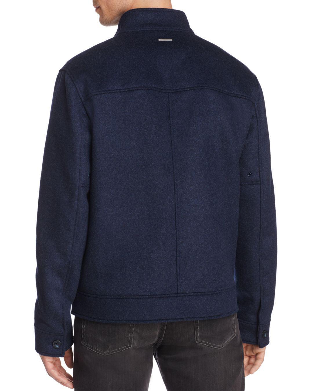Marc New York Lenzen Bomber Jacket in Blue for Men