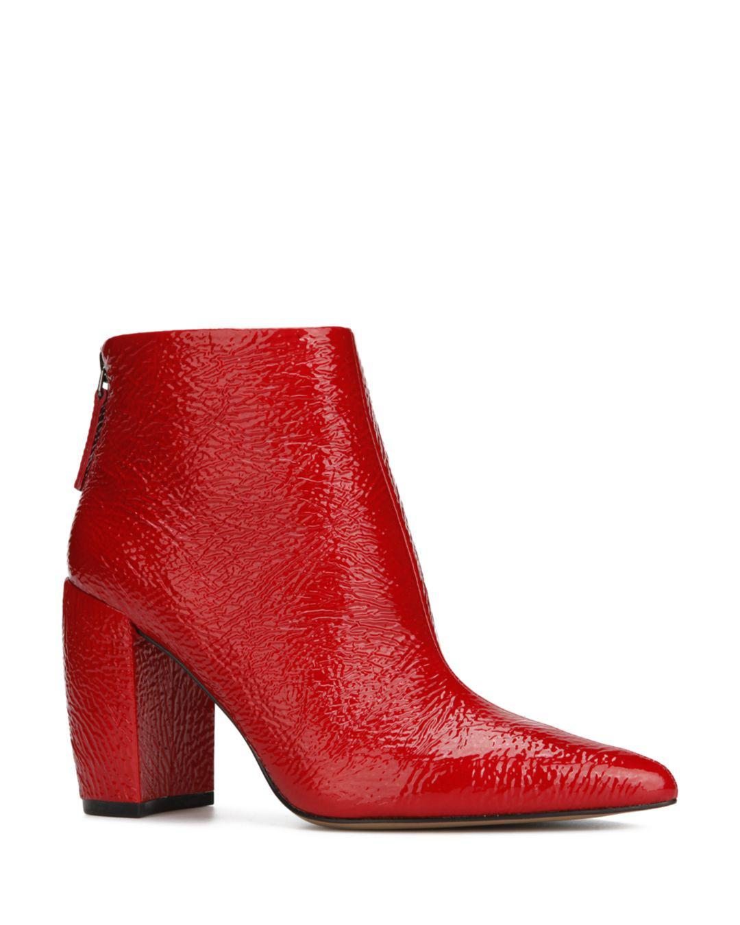 5612aae35da Kenneth Cole Alora Pointy Toe Ankle Bootie Boot in Red - Lyst