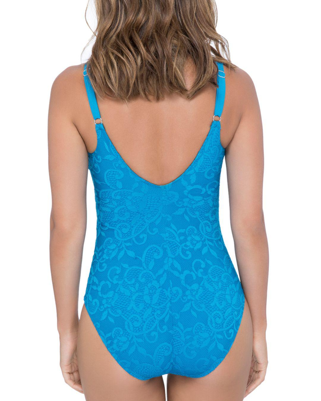 68b9b8ccdf06c Lyst - Gottex Shalimar D-cup Lace One Piece Swimsuit in Blue