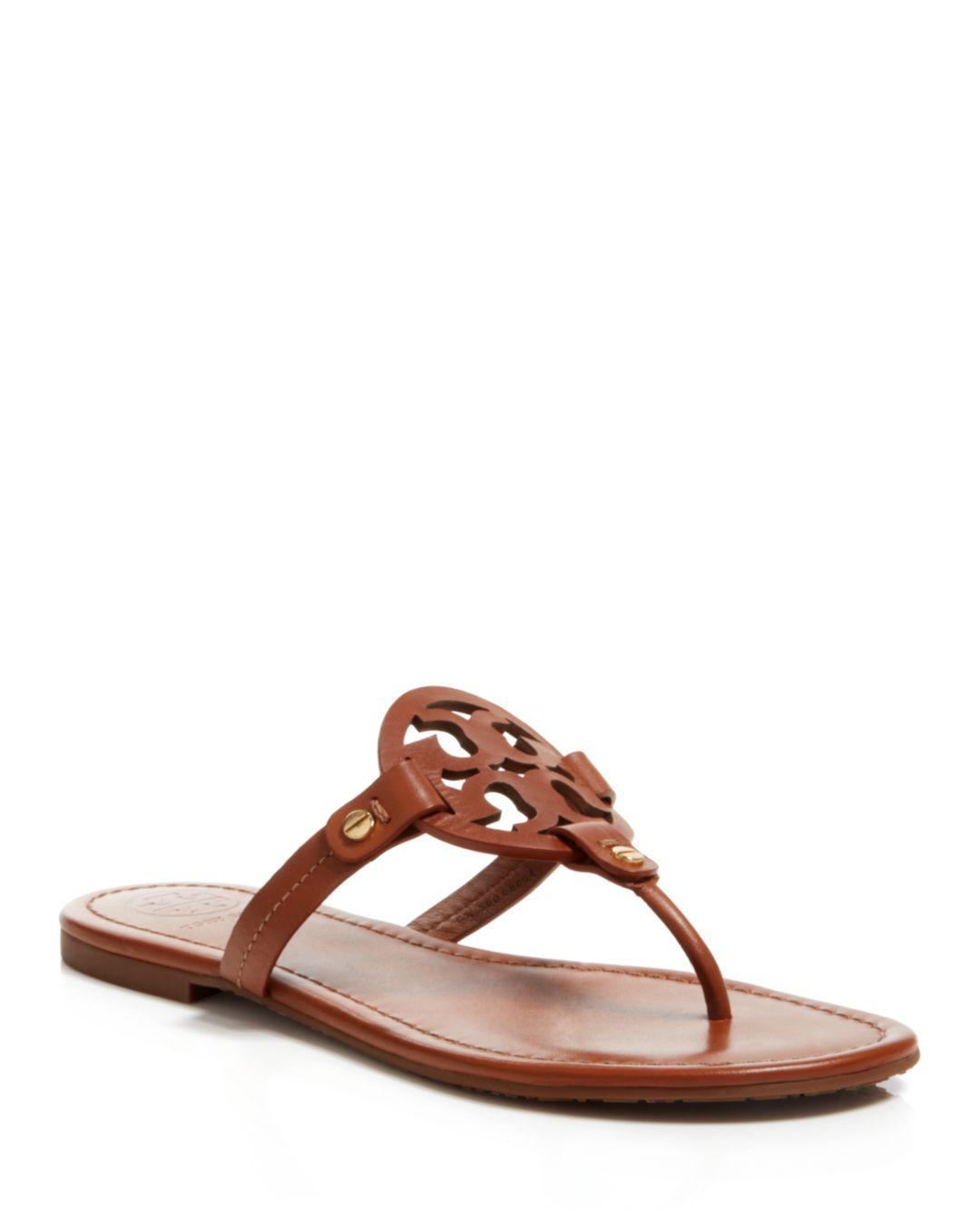 2bc80626c3f361 Lyst - Tory Burch Flat Thong Sandals - Miller in Brown - Save 19%