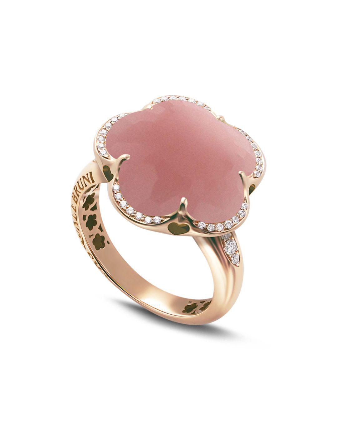 Lyst - Pasquale Bruni 18k Rose Gold Bon Ton Floral Dark Pink ...