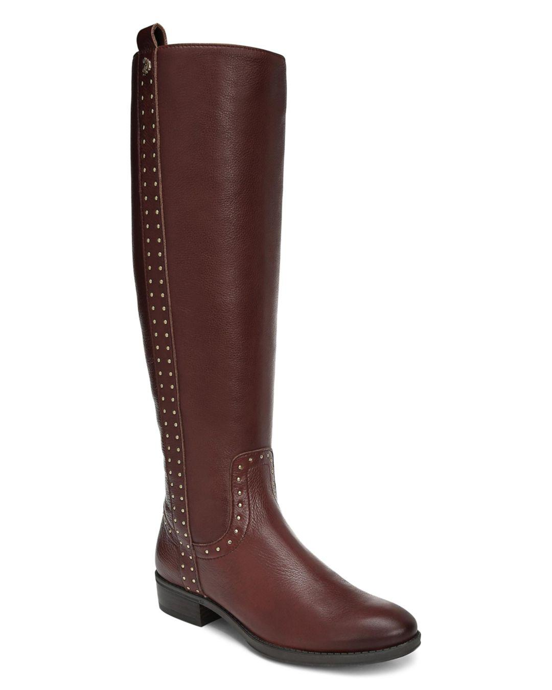 d0757fadf8d9 Lyst - Sam Edelman Women s Prina Round Toe Tall Leather Boots in ...
