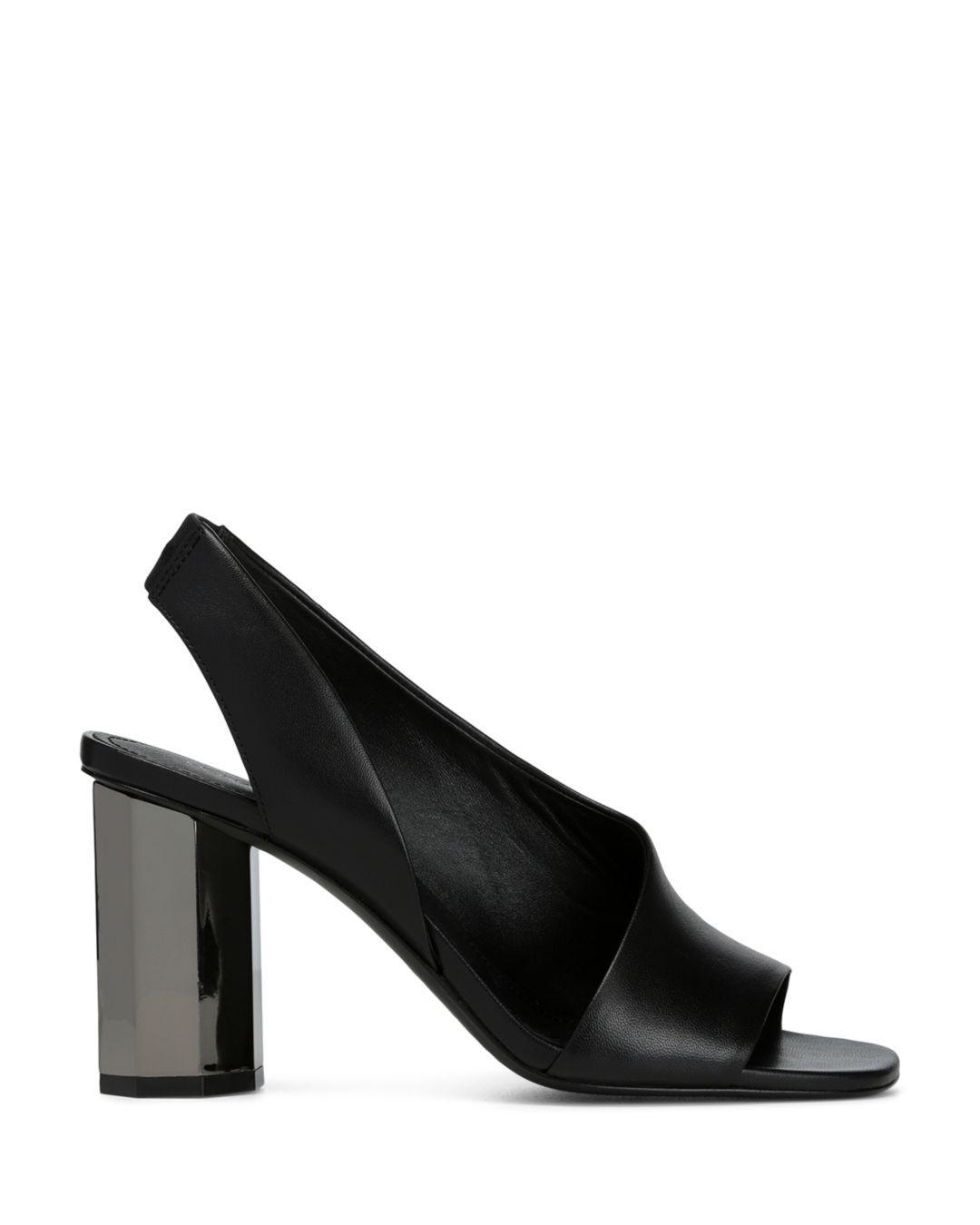 21020ba3c923 Lyst - Donald J Pliner Ella Leather Sandal in Black - Save  26.92307692307692%