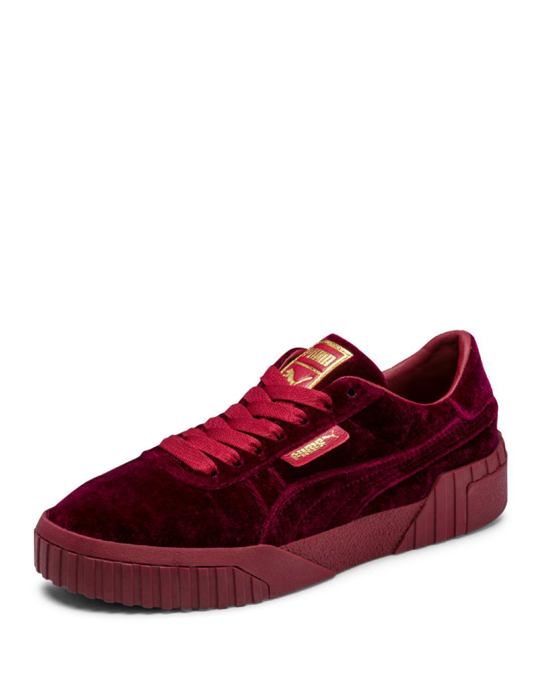 PUMA Cali Velvet (red) Classic Shoes
