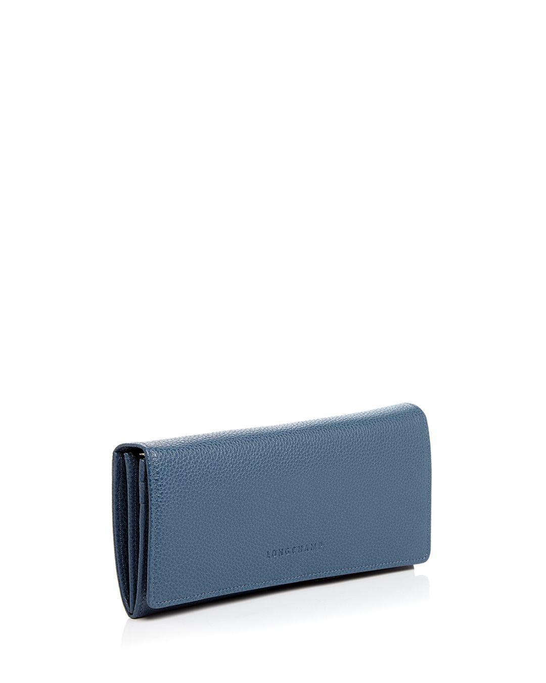 Veau Foulonne Checkbook Wallet