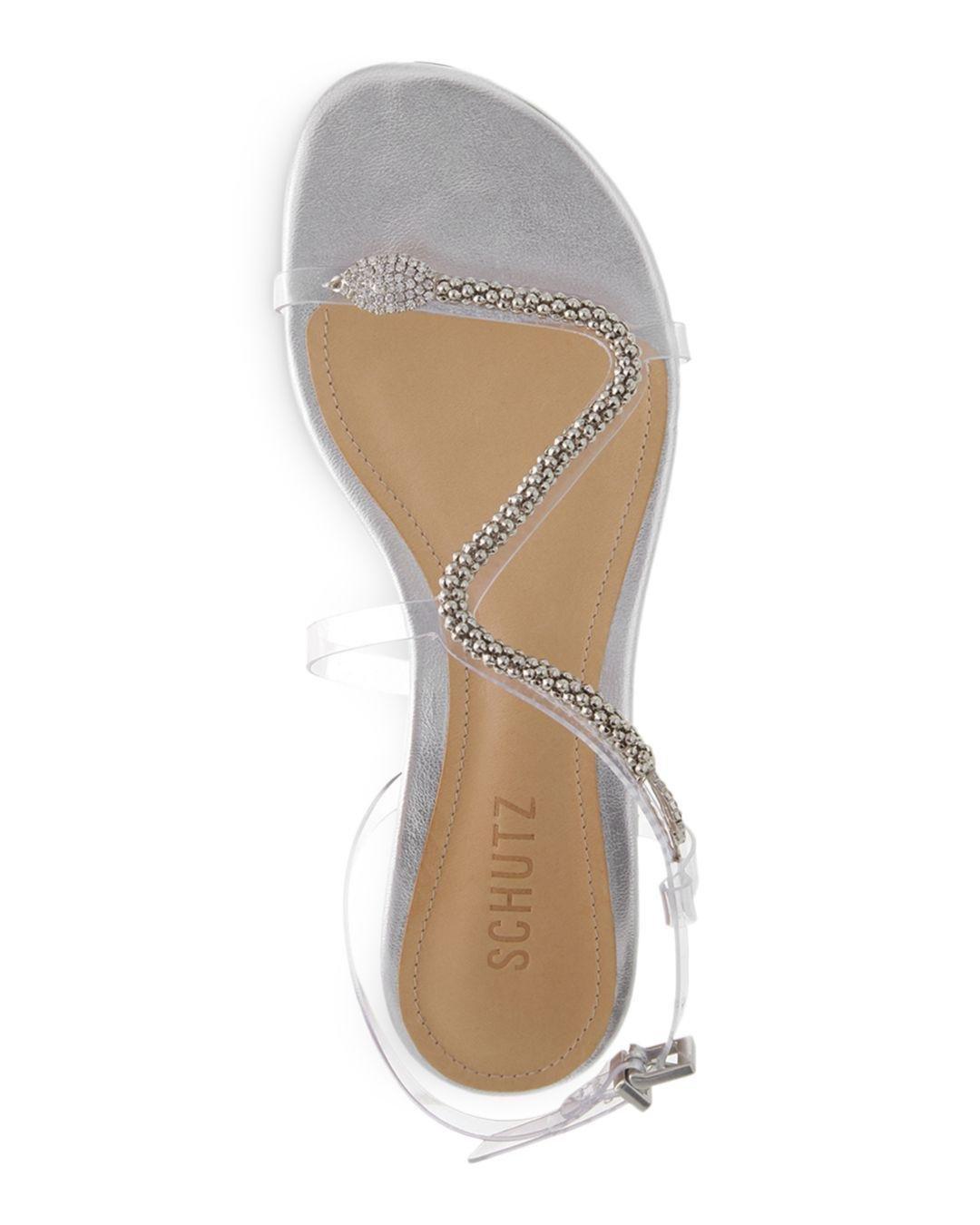 ad5776b99 Schutz - White Gabbyl Embellished Sandals - Lyst. View fullscreen