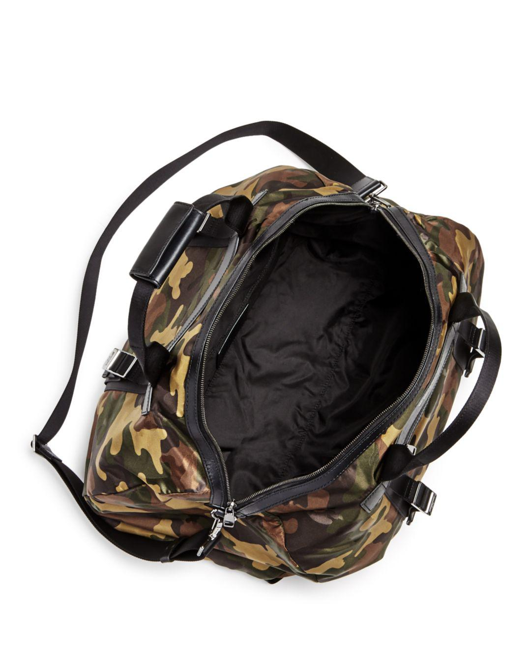 3b8f60ebf9e6 Michael Kors Kent Camo-print Nylon Convertible Duffel Bag in Green for Men  - Lyst