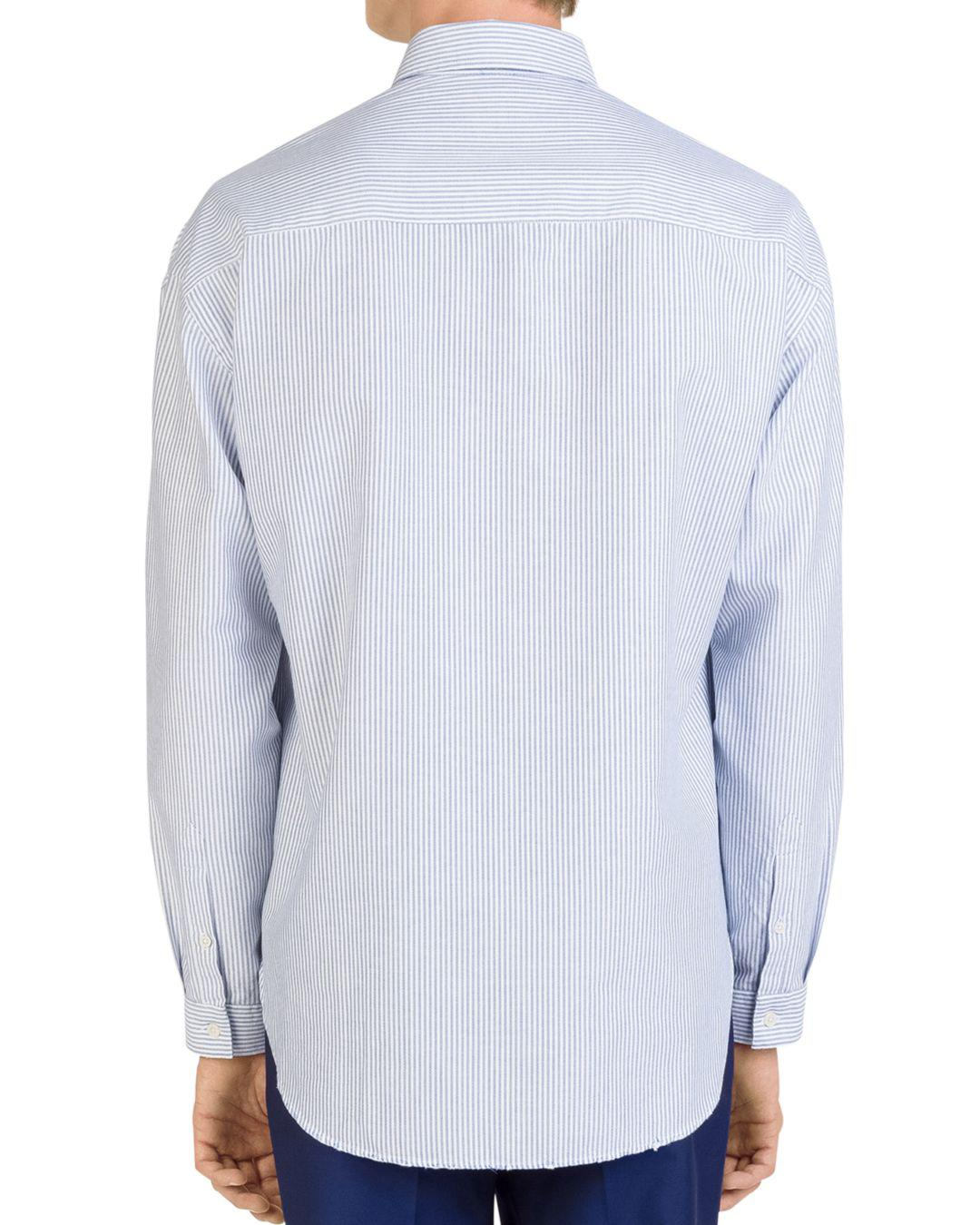 10059793 Lyst - The Kooples Striped Regular Fit Oxford Button-down Shirt in Blue for  Men