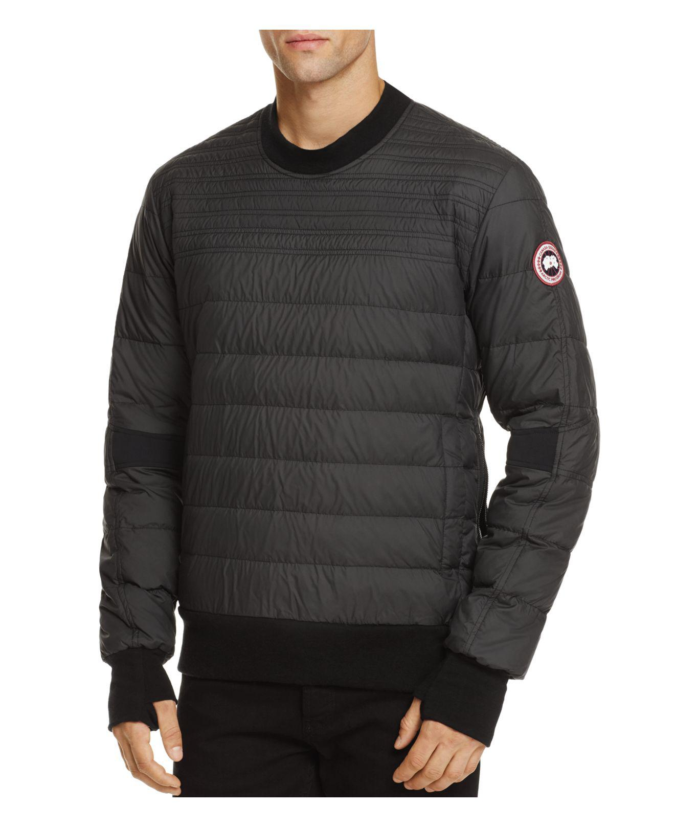Lyst Canada Goose Albanny Quilted Down Sweatshirt In