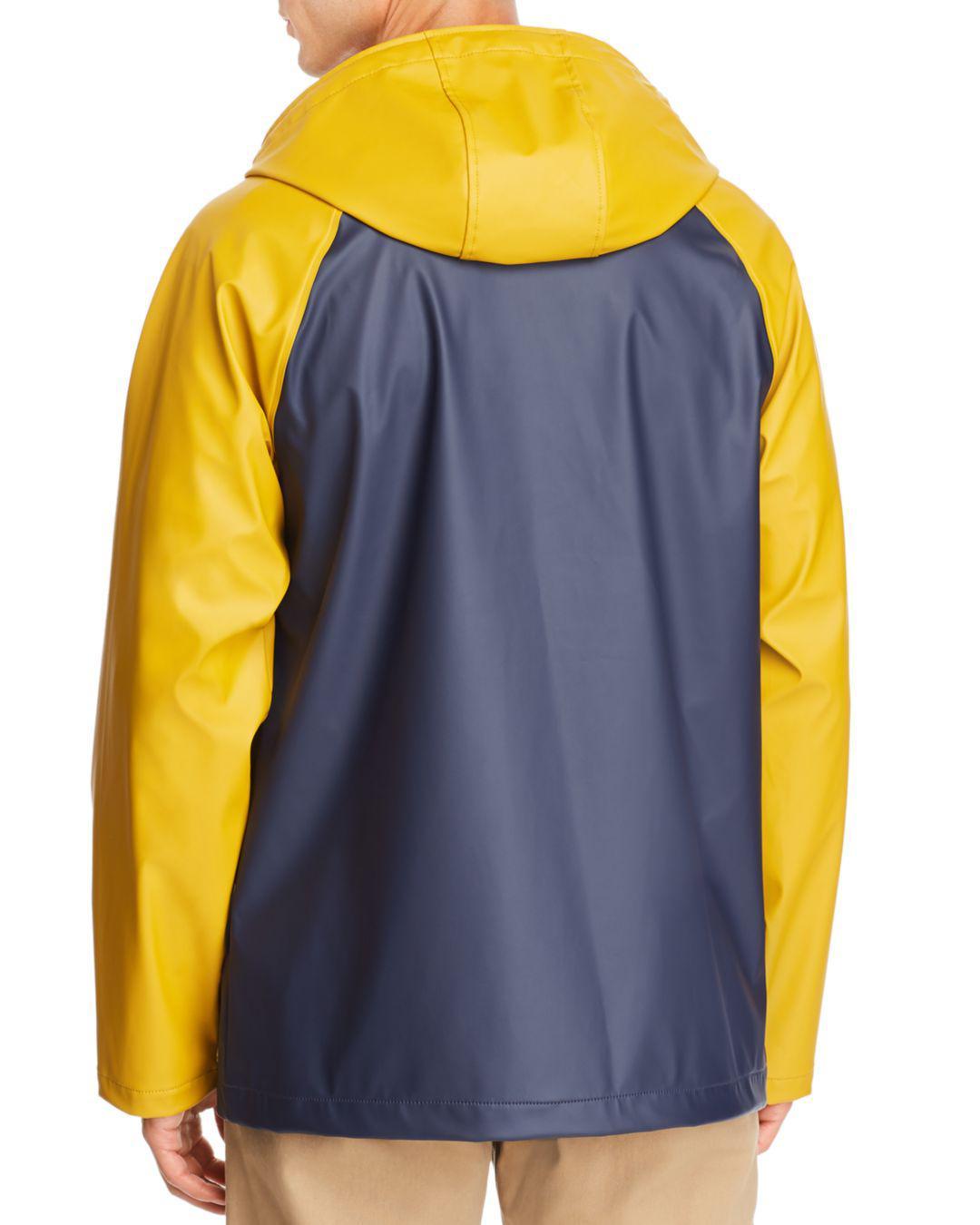 8c32452e73e Lyst - Herschel Supply Co. Color-block Classic Rain Coat in Blue for Men