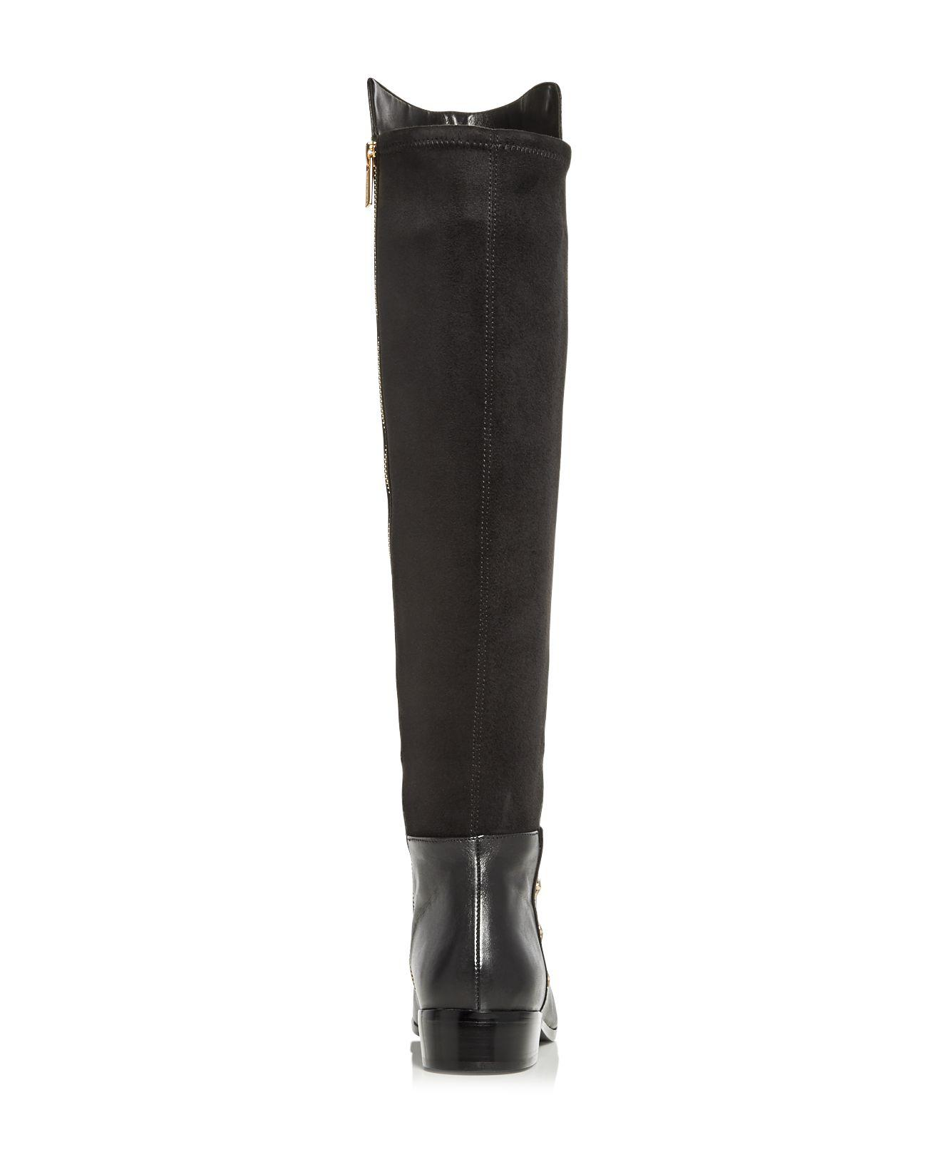 MICHAEL Michael Kors Women's Bromley Leather & Suede Embellished Tall Boots in Black