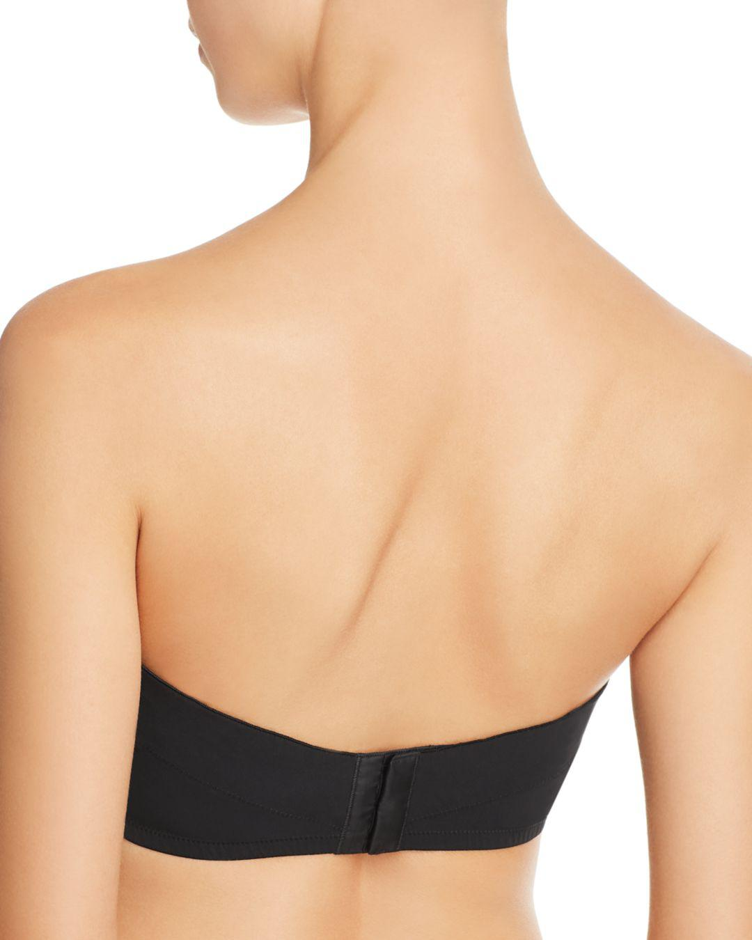 8384b7913f98a La Perla Second Skin Convertible Strapless Push-up U-wire Bra in Black -  Lyst