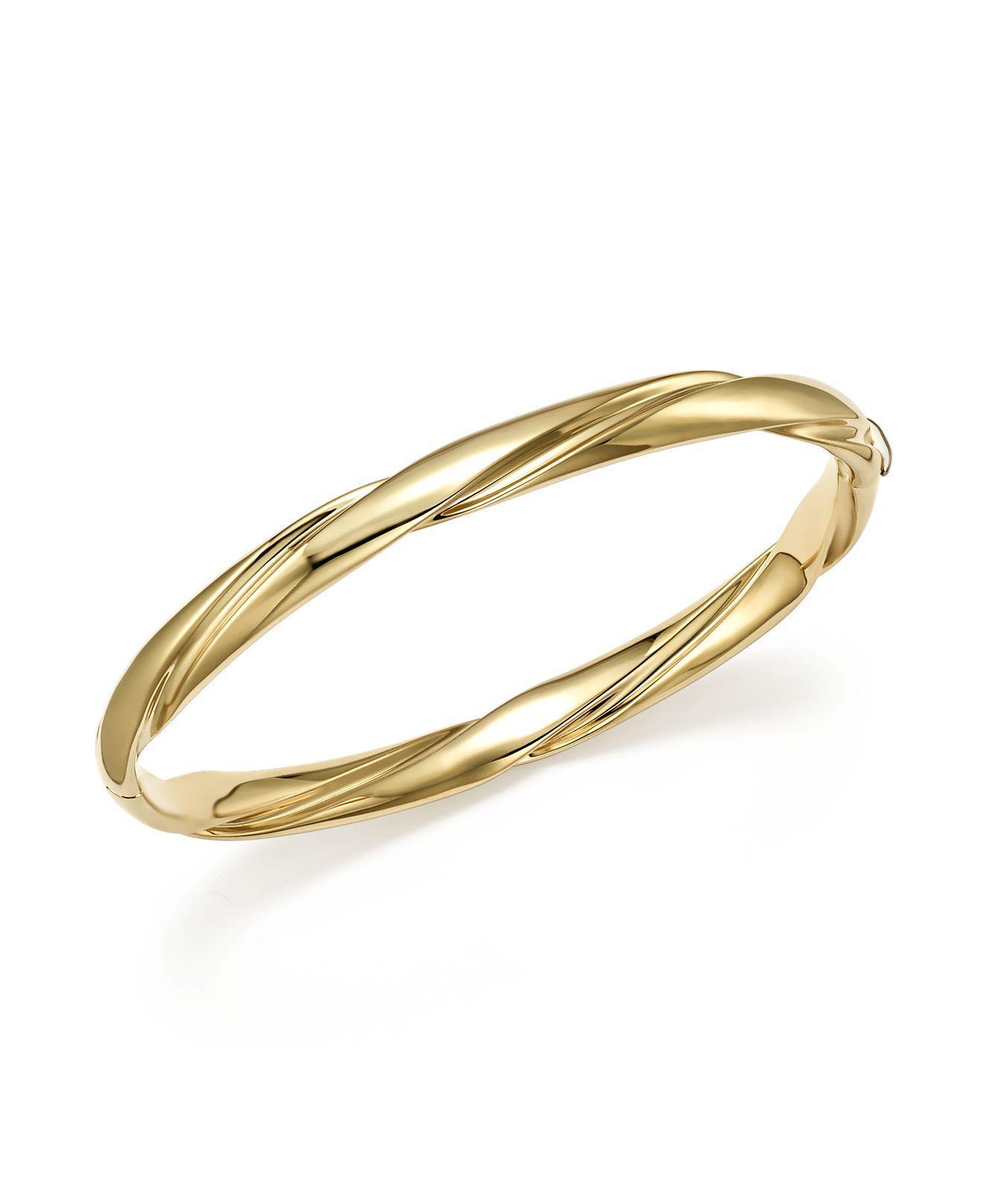 Bloomingdale's Twist Slip-on Bangle Bracelet in 14K Yellow - 100% Exclusive eIAbbQc