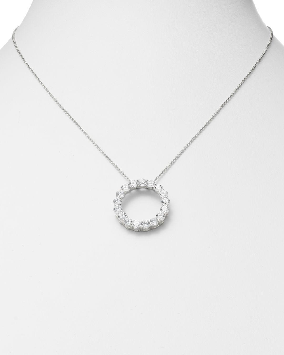 Bloomingdale's Diamond Circle Pendant In 14k White Gold